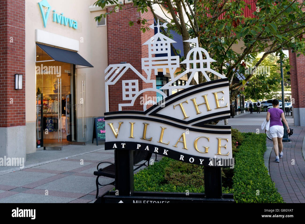 Park Royal Village Shopping Centre Sign West Vancouver British Columbia Canada
