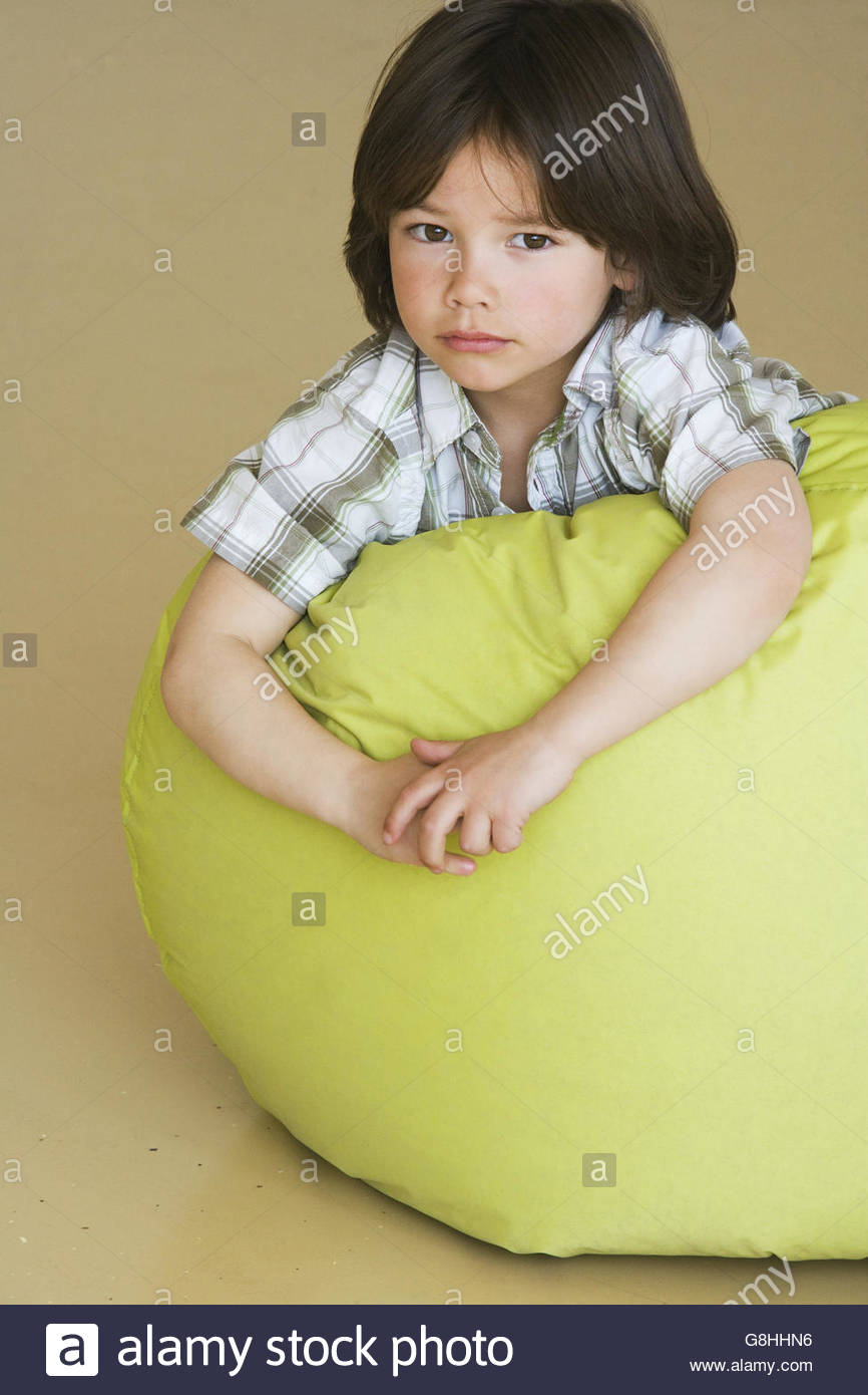 Terrific Preschool Boy Laying On Bean Bag Stock Photo 108566562 Alamy Caraccident5 Cool Chair Designs And Ideas Caraccident5Info