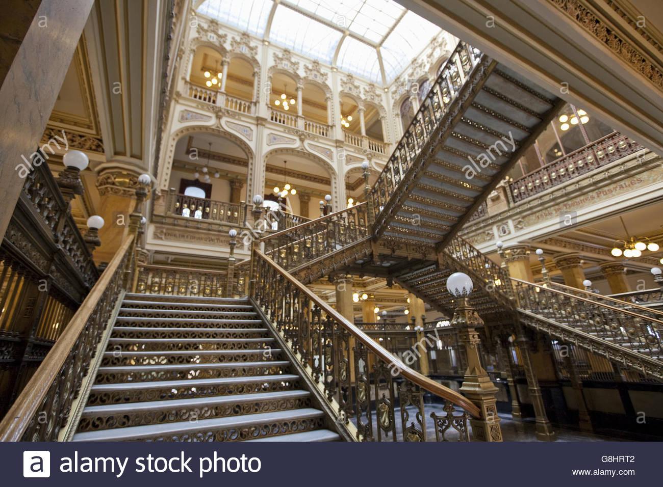 The Palacio de Correos de Mexico (Postal Palace of Mexico City) Mexico City, Mexico - Stock Image