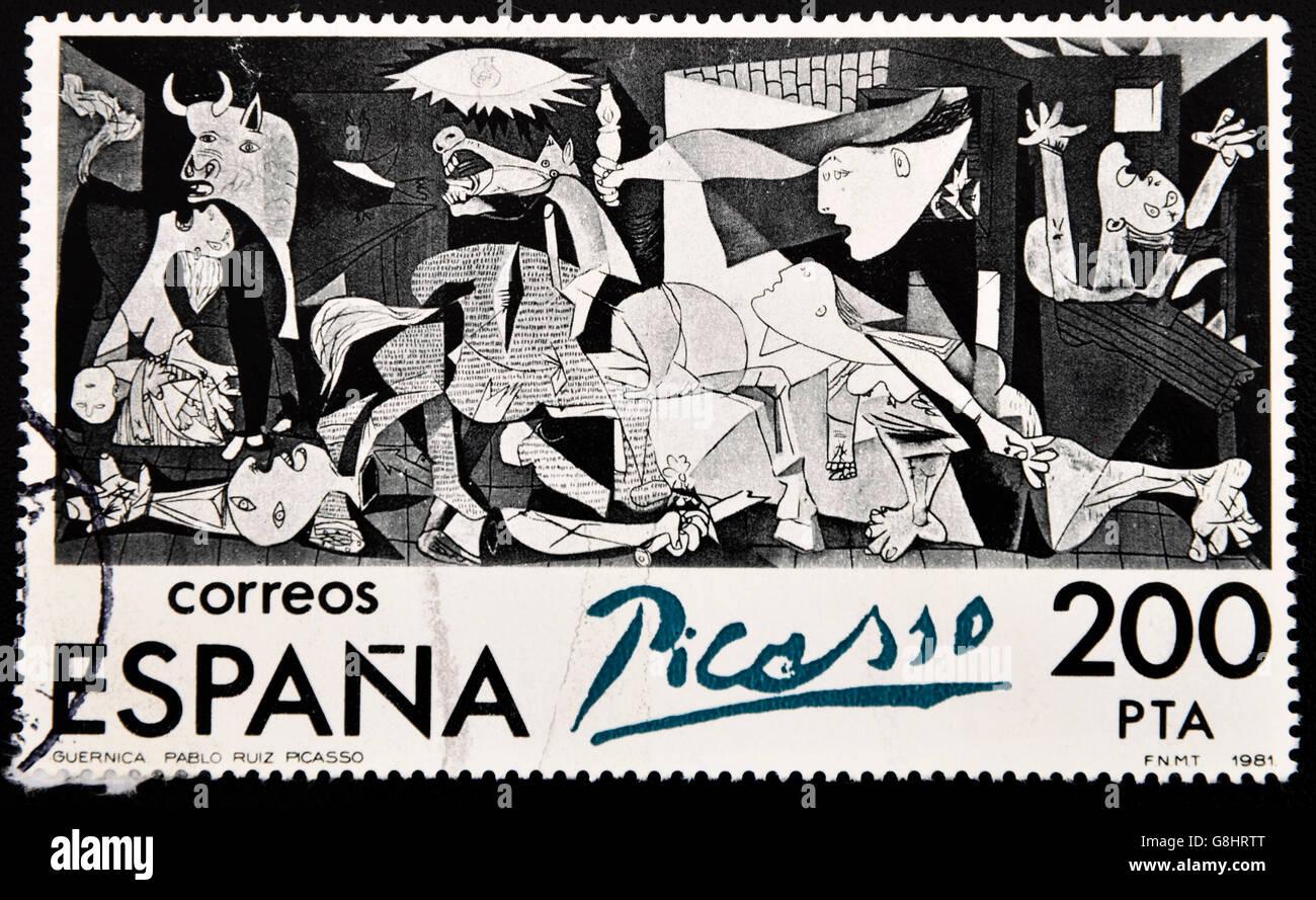 ผลการค้นหารูปภาพสำหรับ picasso guernica stamp
