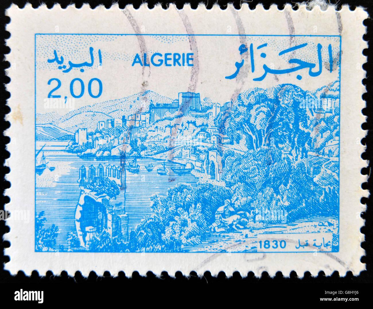 ALGERIA - CIRCA 1984: stamp printed in Algeria shows Bejaia, circa 1984 Stock Photo