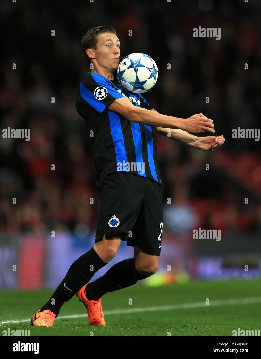 Soccer - UEFA Champions League - Qualifying - Play-off - Manchester United v Club Brugge - Old Trafford - Stock Image