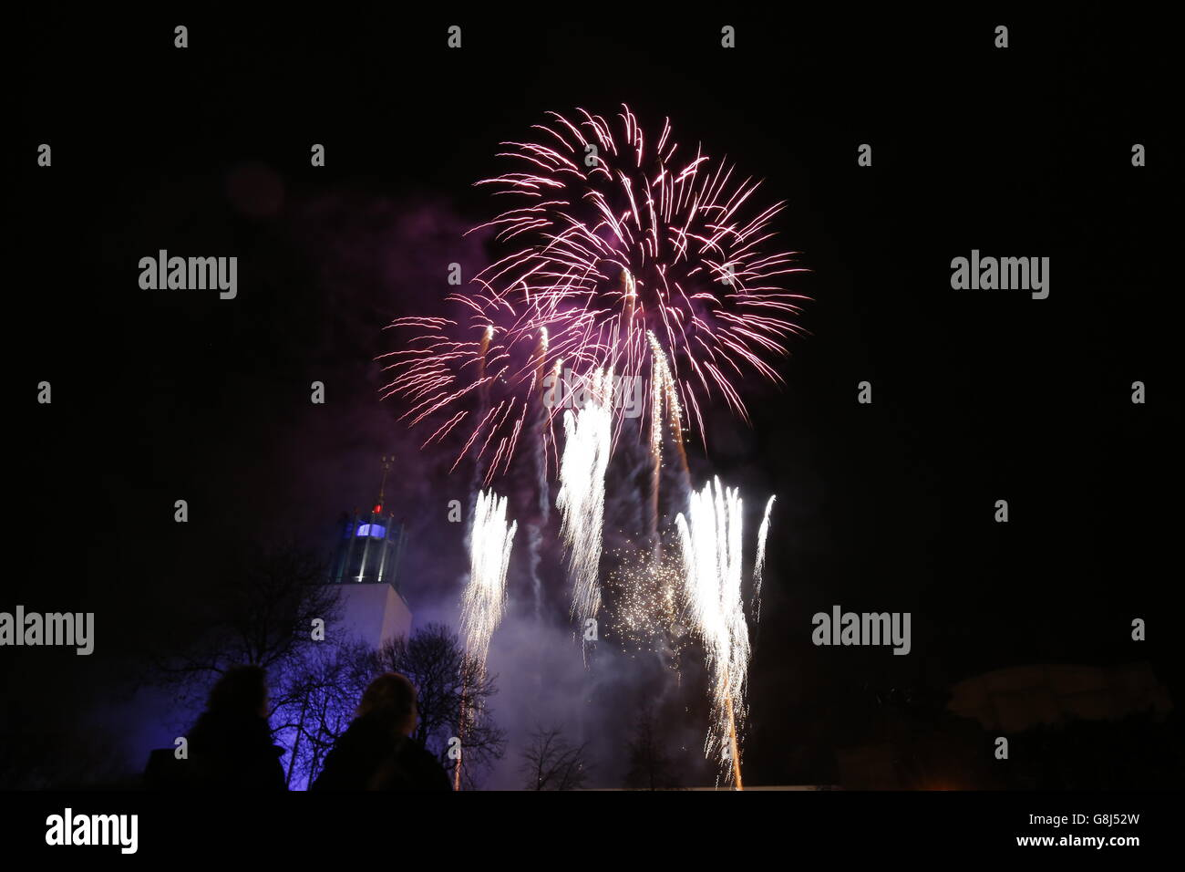 New Year 2016 Celebrations Stock Photo