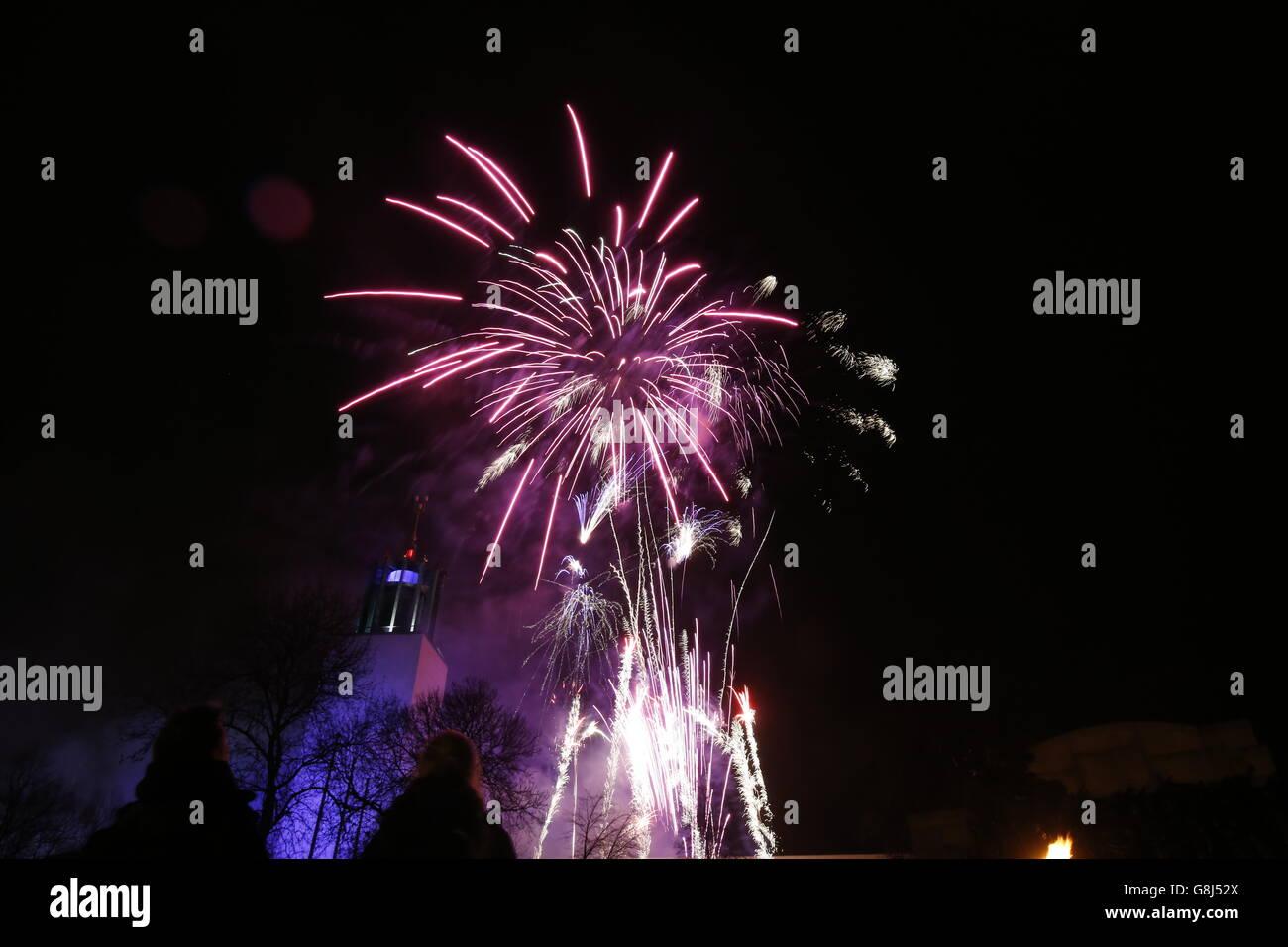 New Year 2016 Celebrations Stock Photo