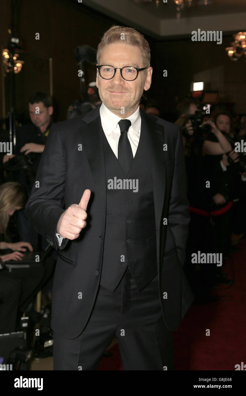 Sir Kenneth Branagh attending the London Critics' Circle Film Awards at the May Fair Hotel, Central London. PRESS ASSOCIATION Photo. Picture date: Sunday 17th January, 2016. See PA story SHOWBIZ Critics. Photo credit should read: Jonathan Brady/PA Wire. Stock Photo