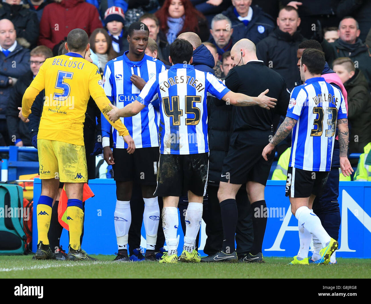 Referee Geoff Eltringham During Sky Stock Photos & Referee