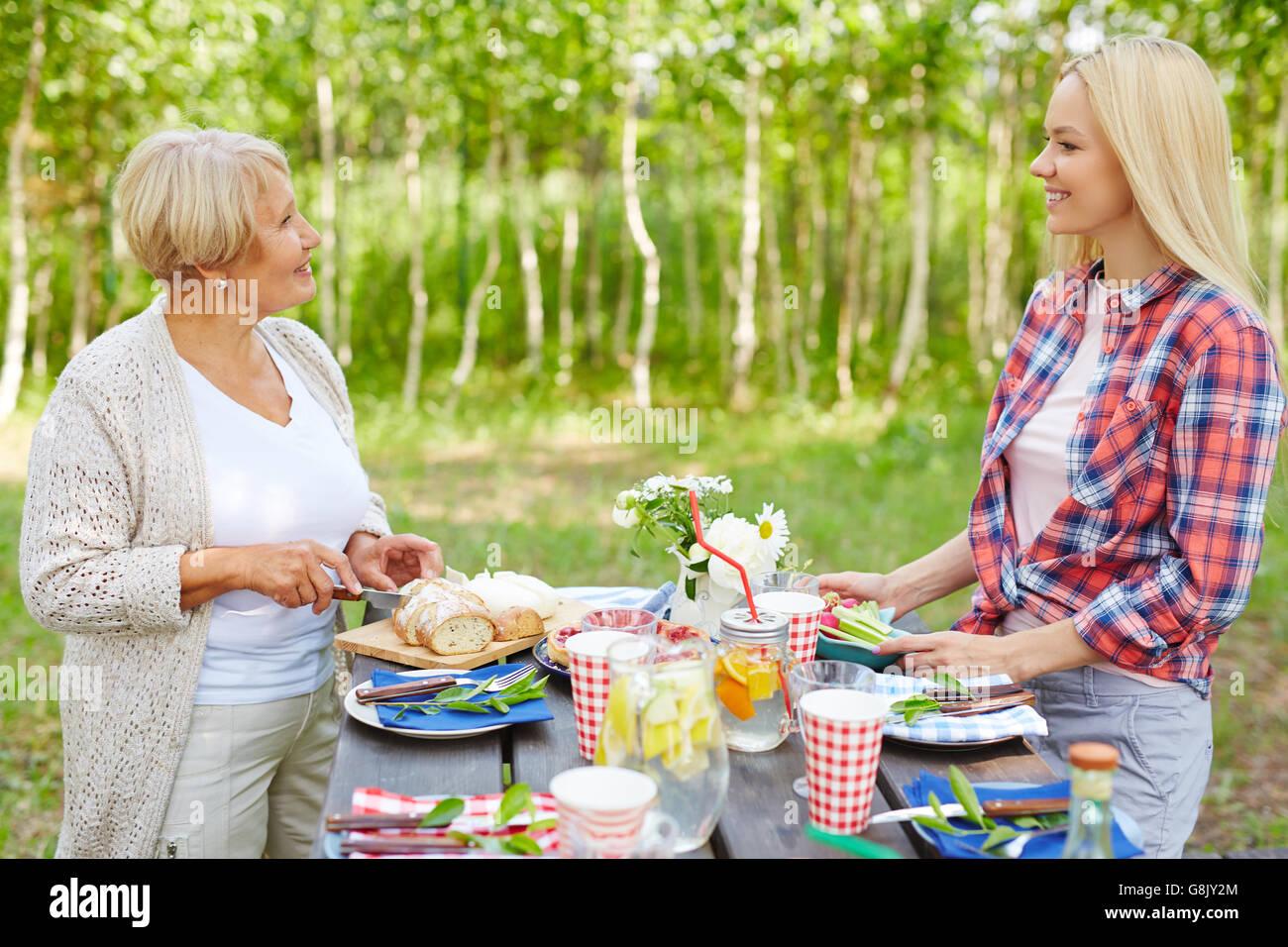 Summer picnic - Stock Image