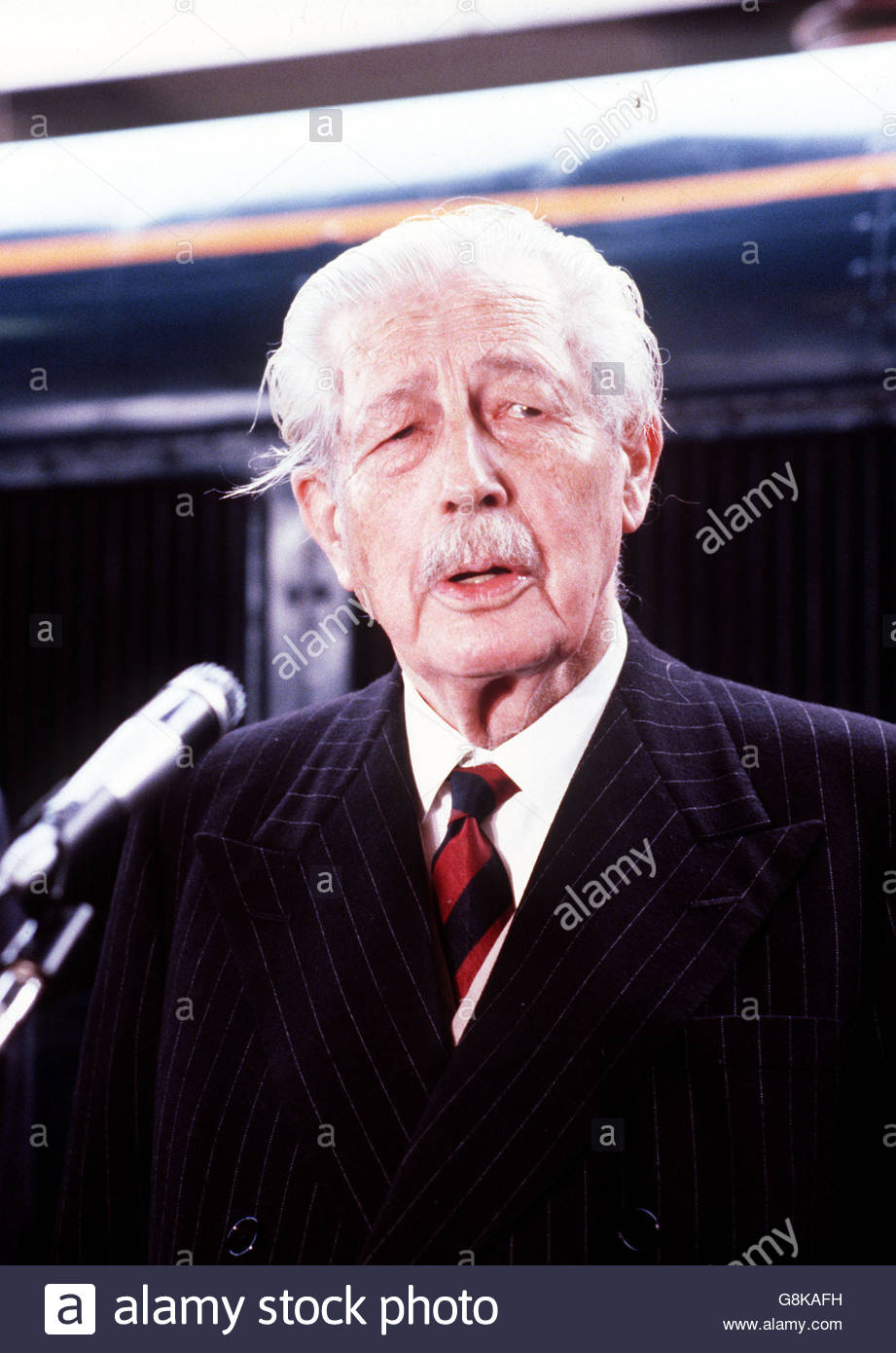 File photo dated October 1979 of Harold Macmillan, who is among those who served during the Battle of the Somme. Stock Photo