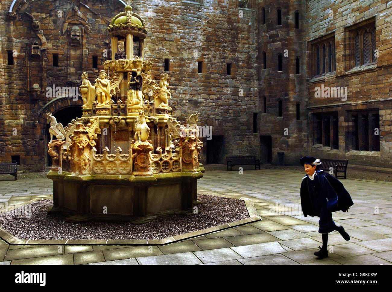 Linlithgow Palace Fountain Stock Photo