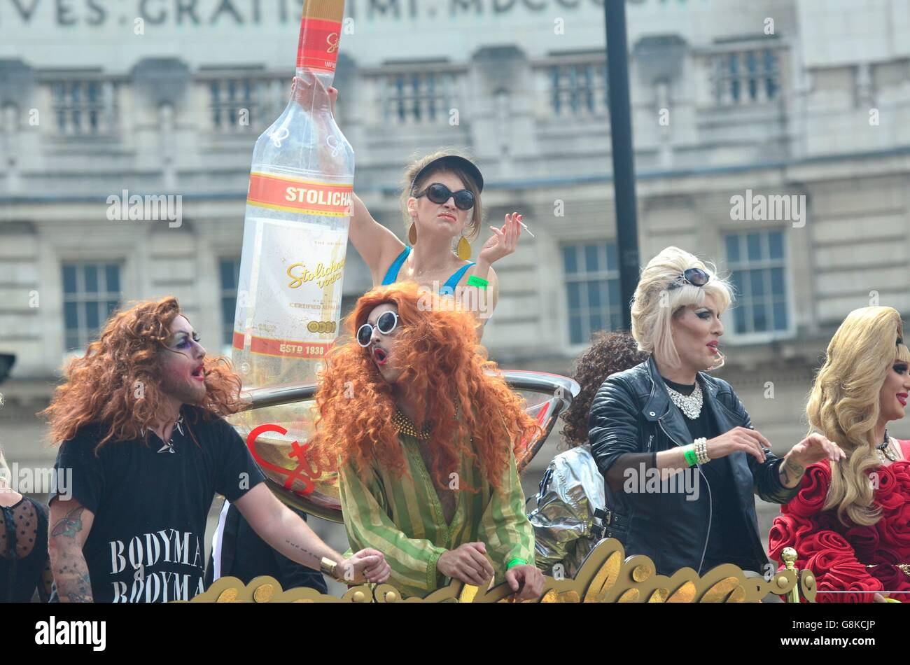 Gay Pride Parade 2016, London, England, UK Stock Photo