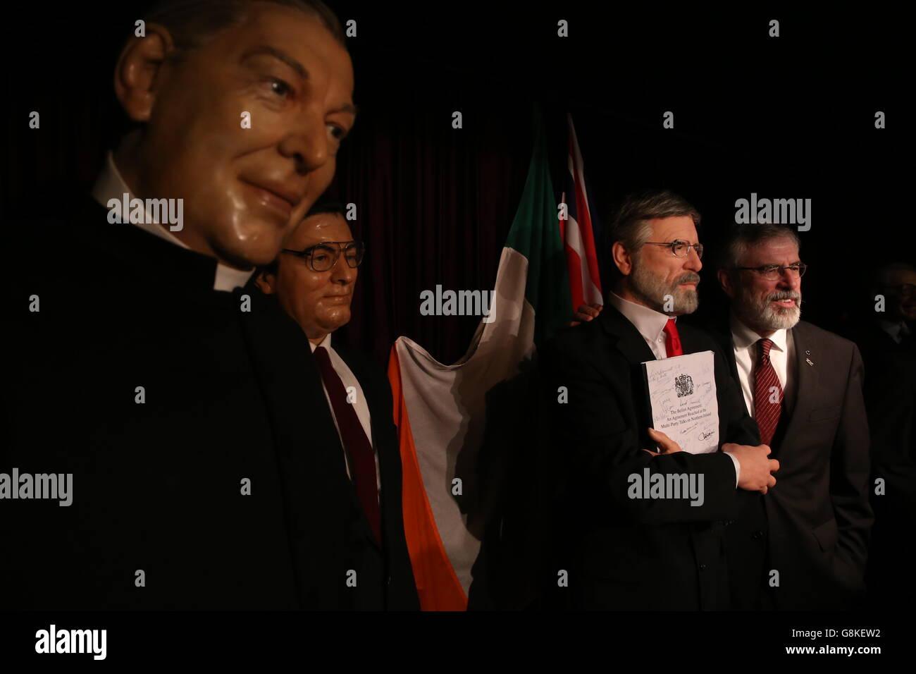 Gerry Adams waxwork - Dublin - Stock Image