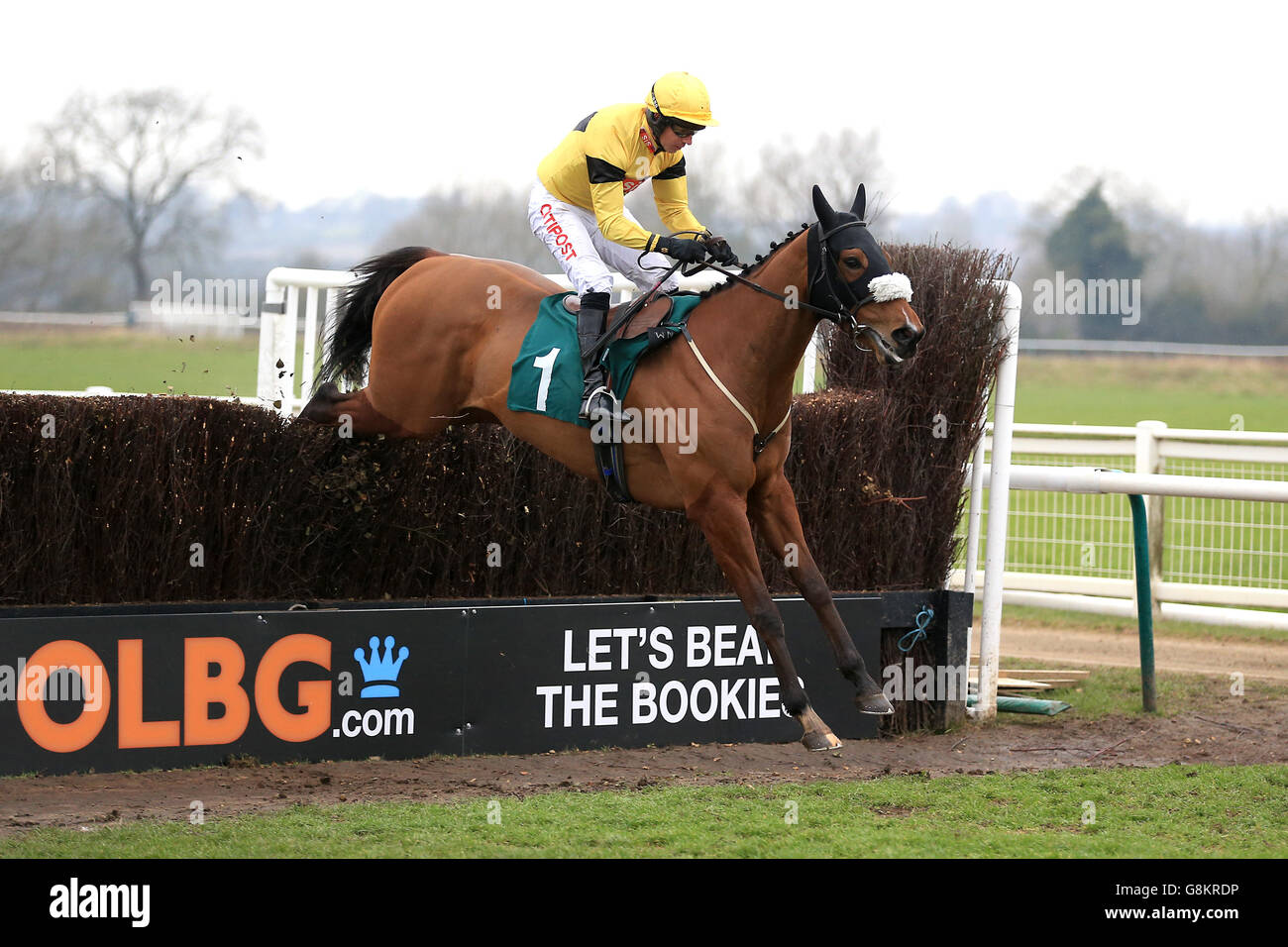 Gentlemen's and Kingmaker Chase Day - Warwick Racecourse Stock Photo