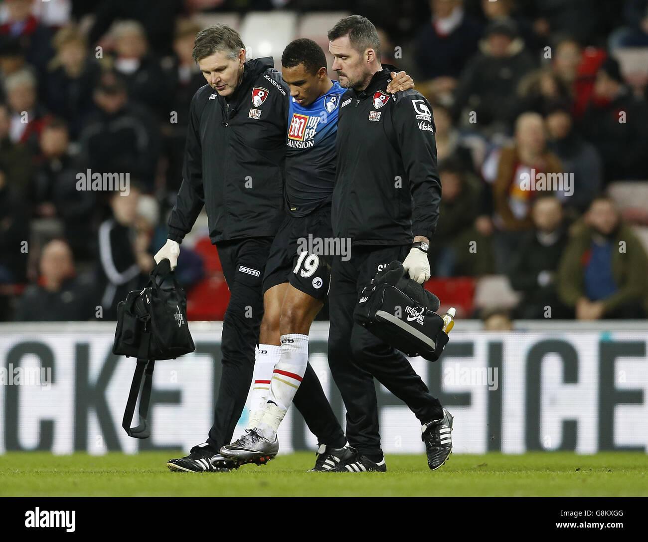 Sunderland v AFC Bournemouth - Barclays Premier League - Stadium of Light - Stock Image