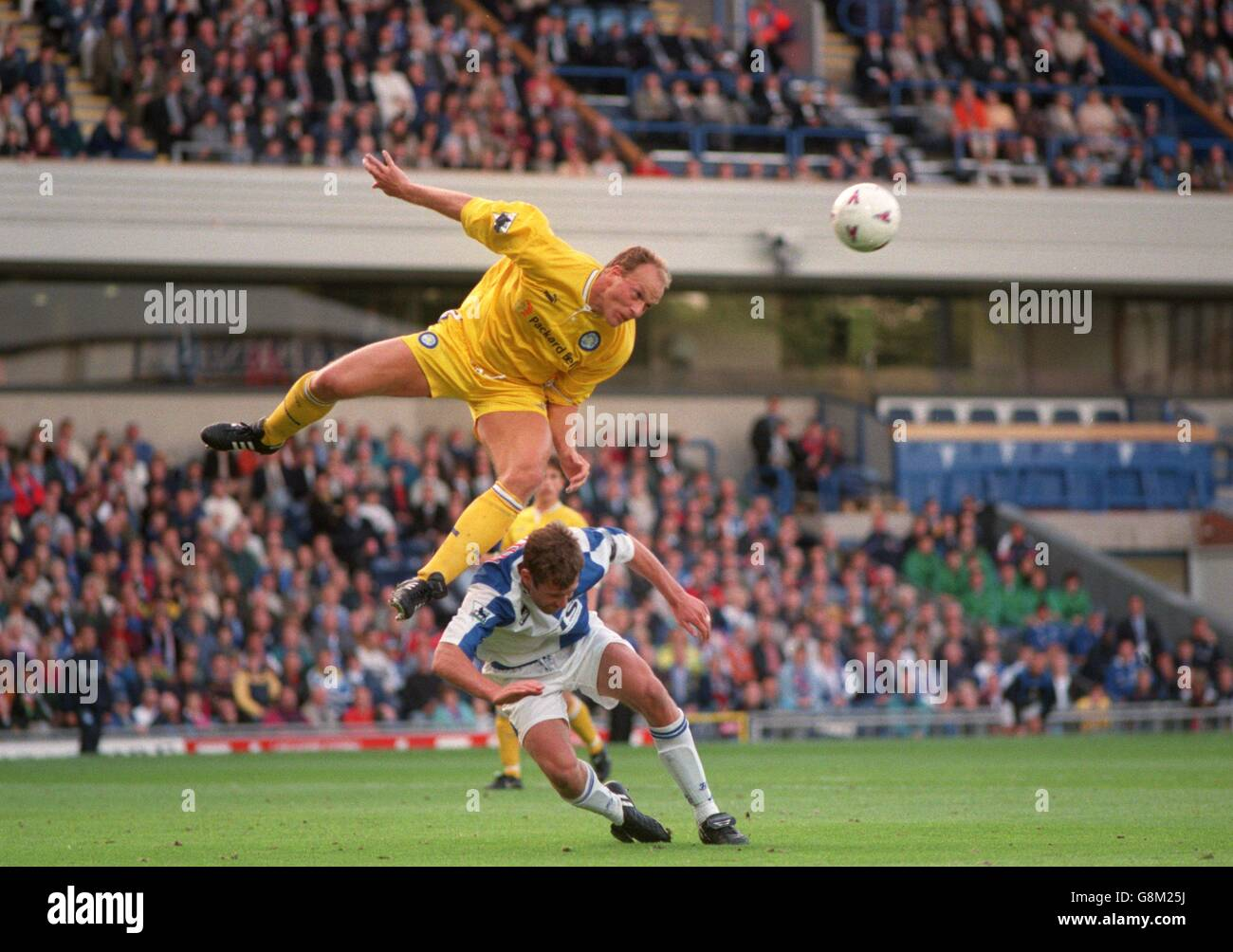 Robert Molenaar Of Leeds United Top Jumps Above Chris Sutton
