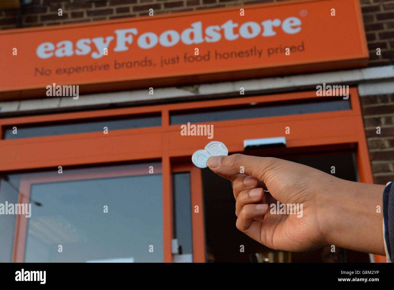 EasyFoodstore launch - Stock Image