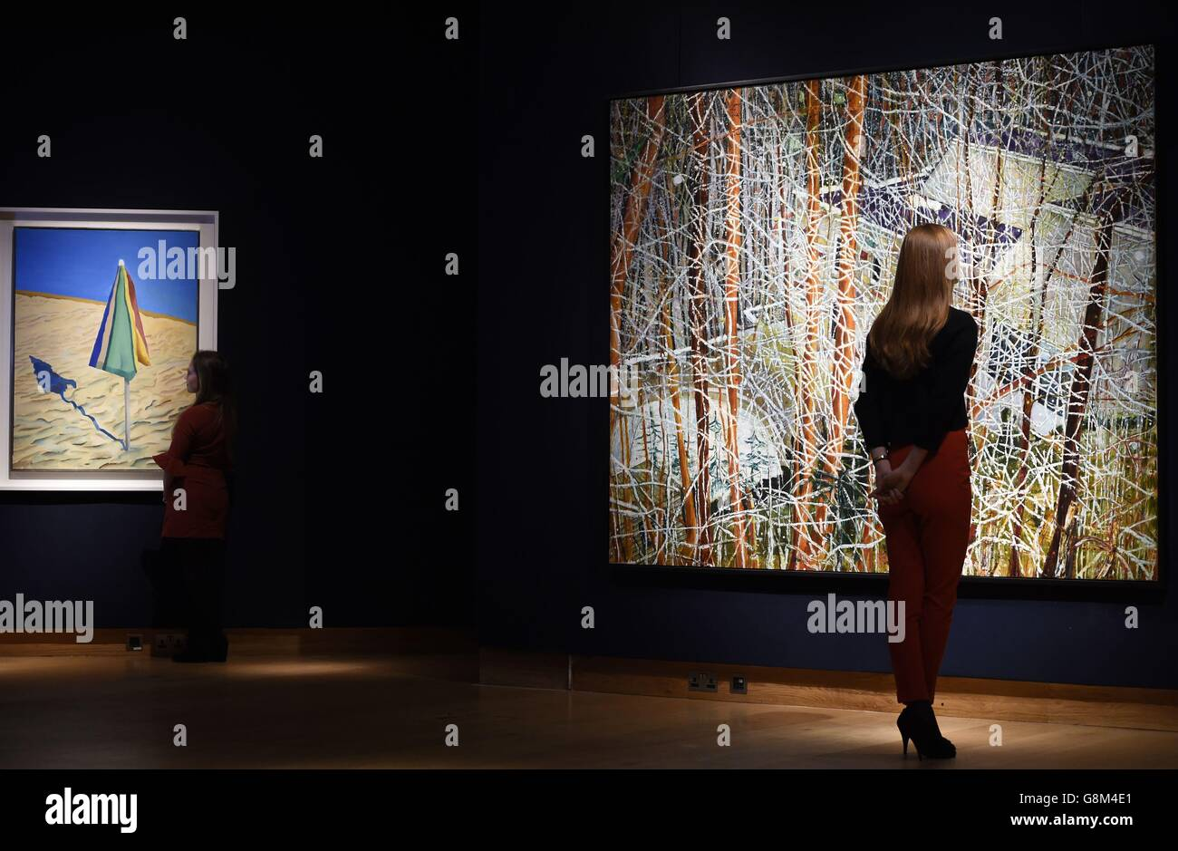Post War and Contemporary Art sales - London Stock Photo
