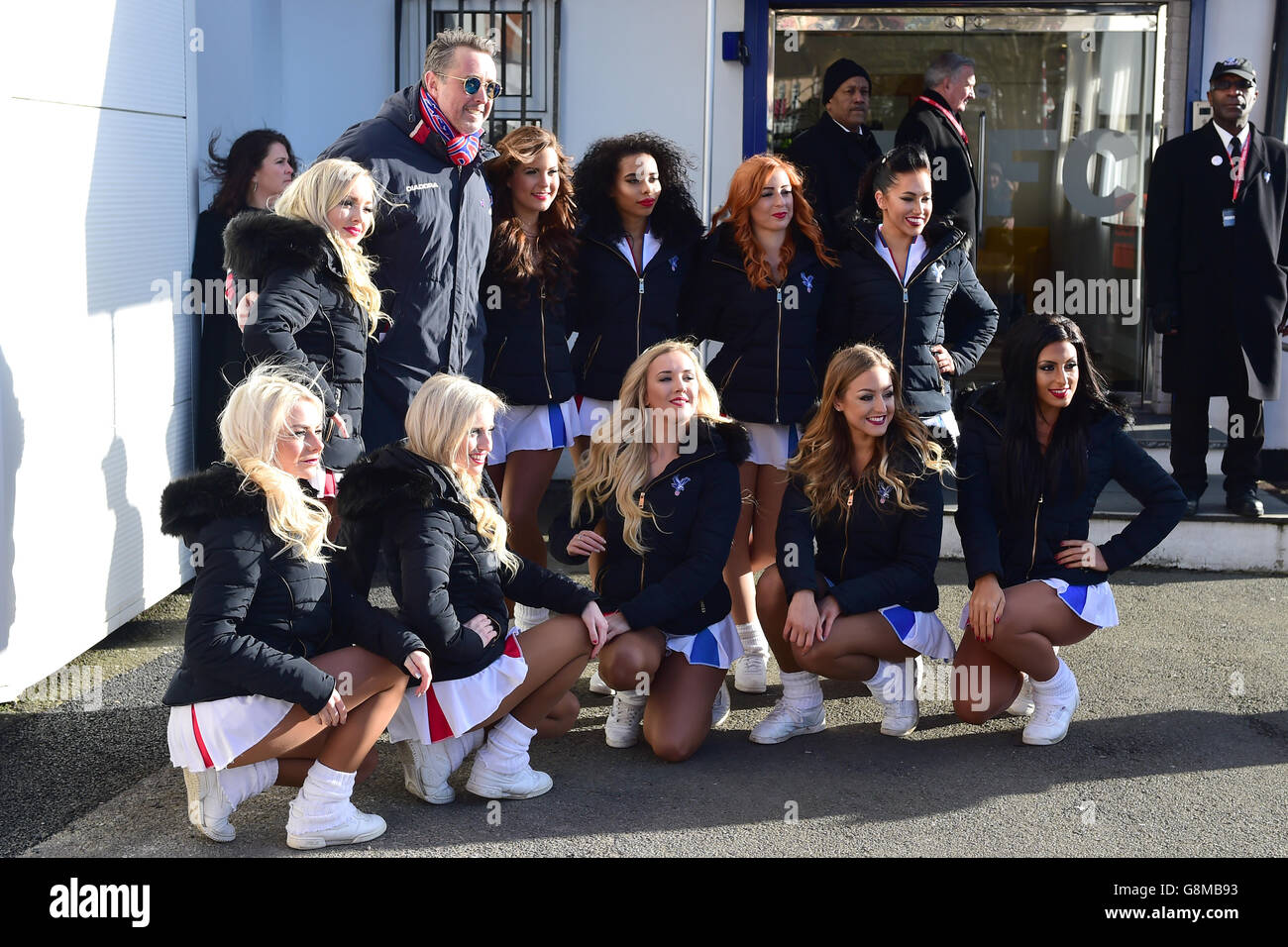 Crystal Palace Cheerleaders Football Stock Photos