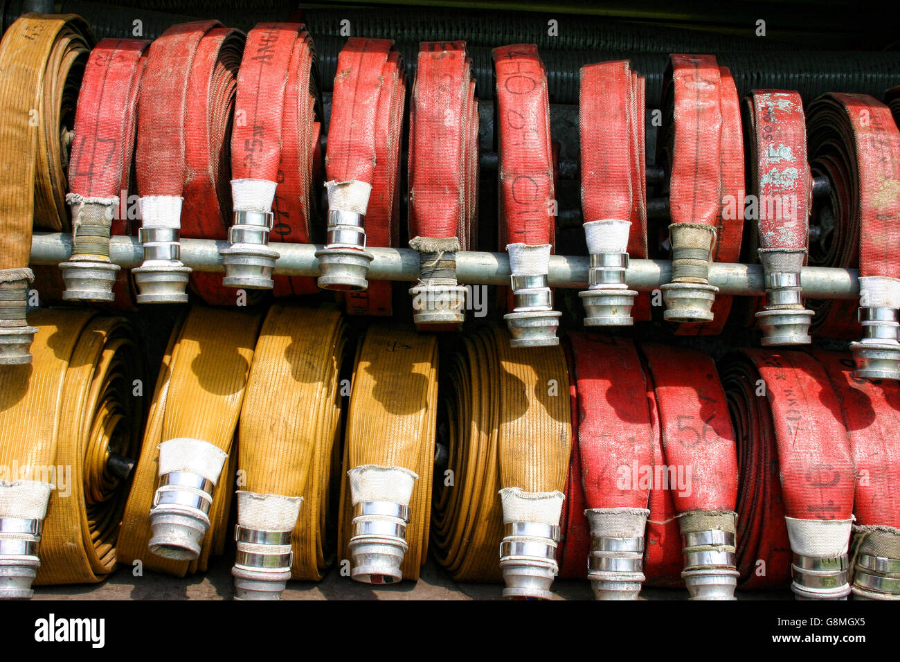 Fire hoses - Stock Image