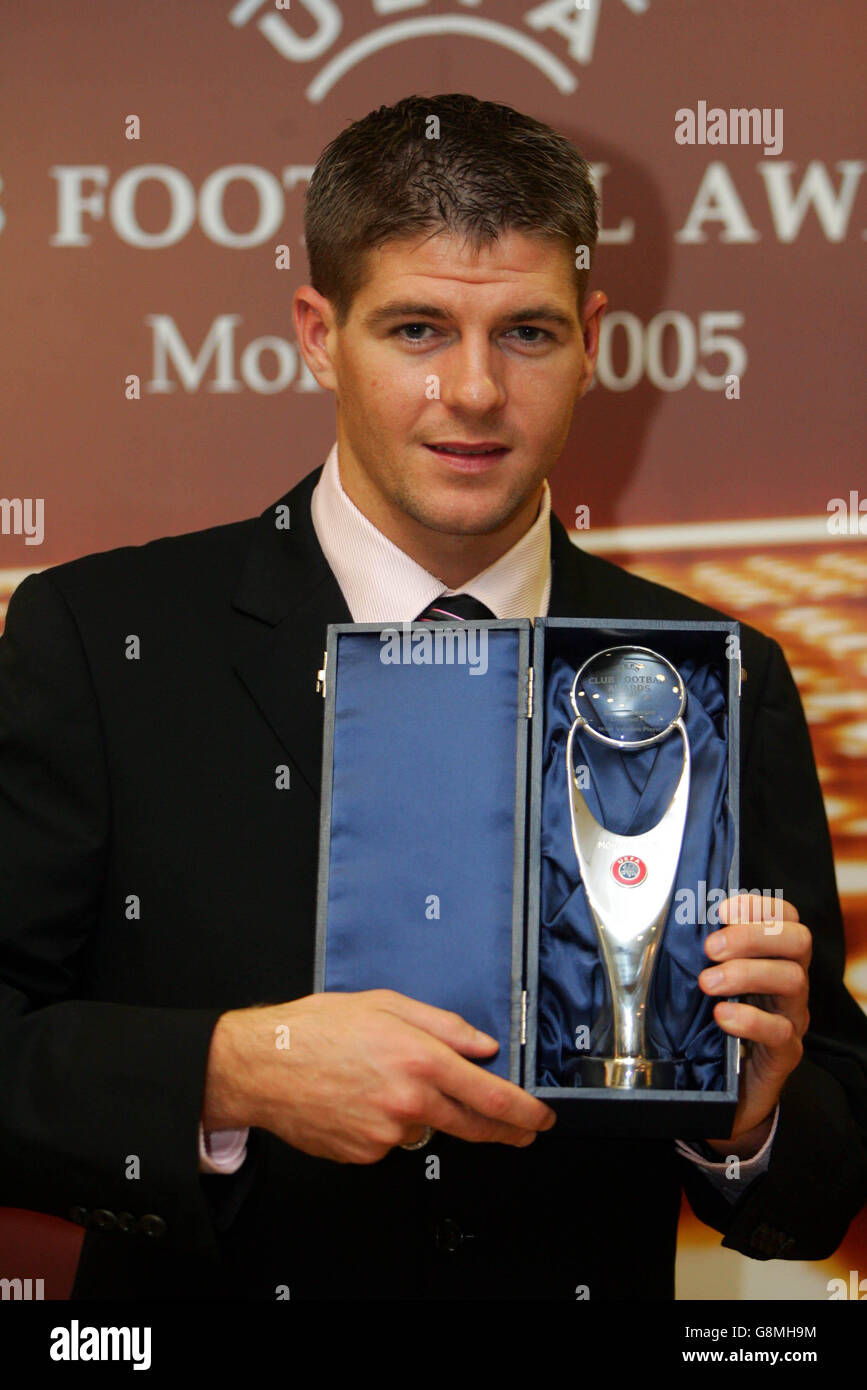 soccer uefa champions league draw monaco mvp award stock photo