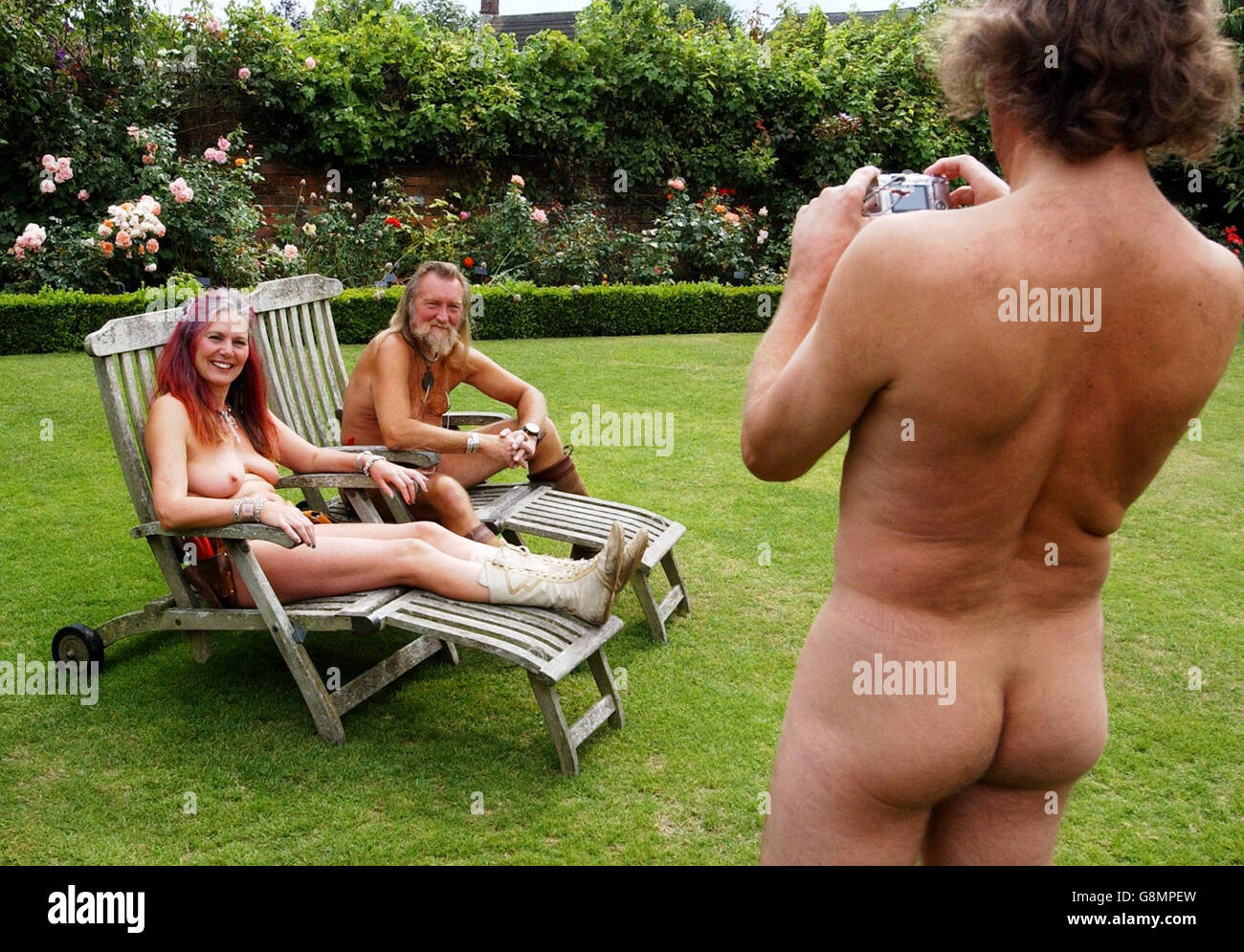 Clothes Optional Day - Abbey House Gardens - Stock Image