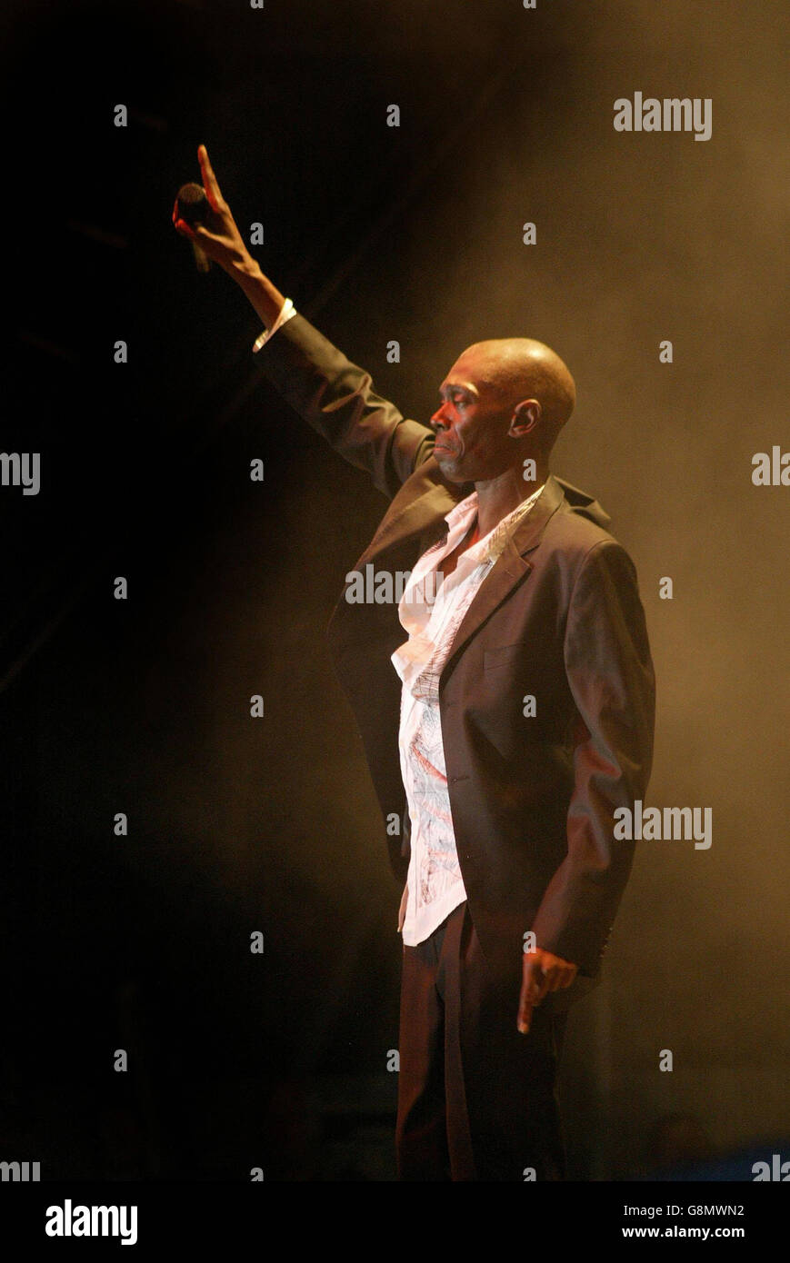 Faithless On Stage At The Botanic Gardens In Belfast Stock Photos ...