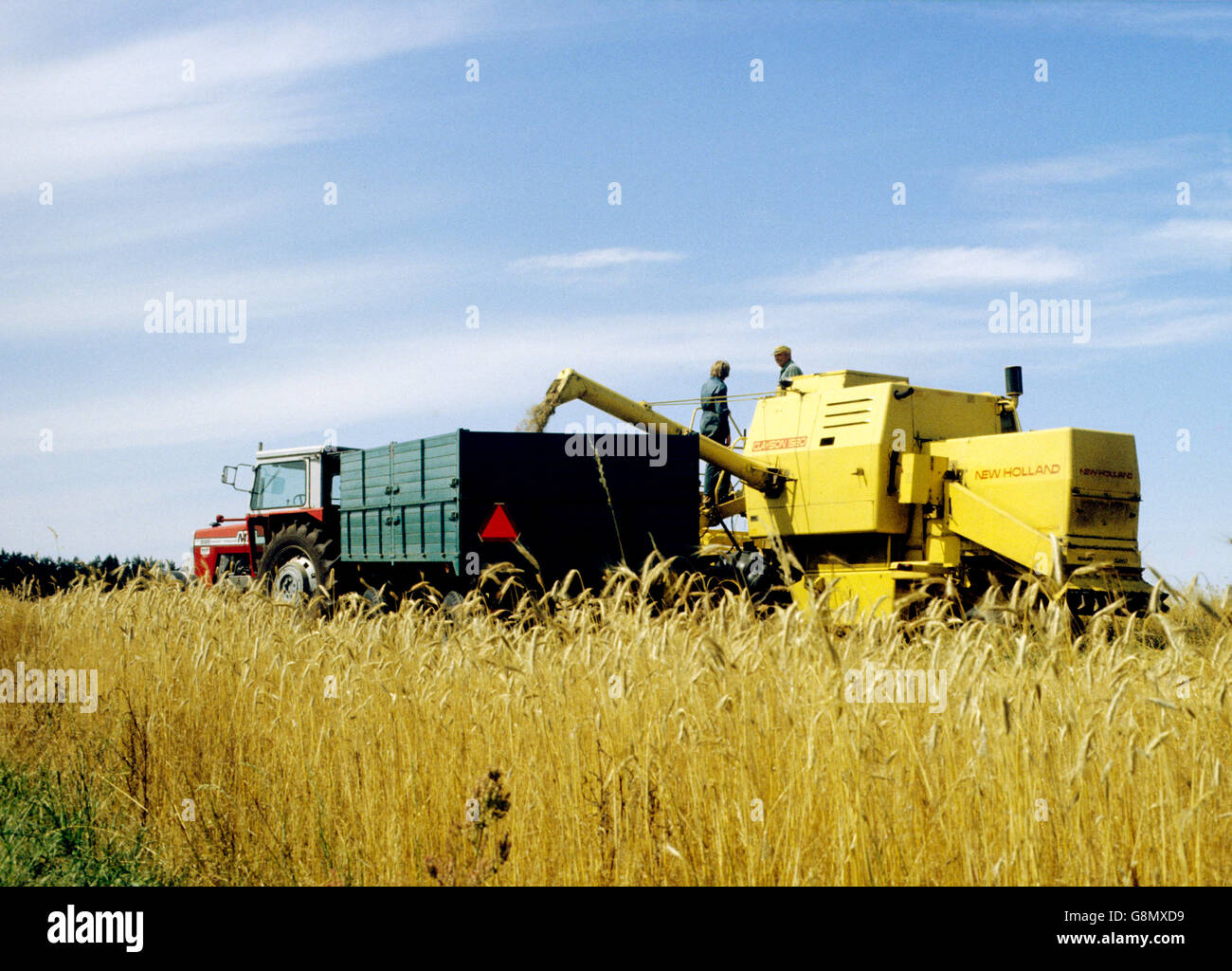 Combine the work of the harvest - Stock Image