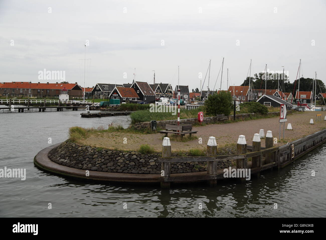 Arriving at Marken,Holland - Stock Image