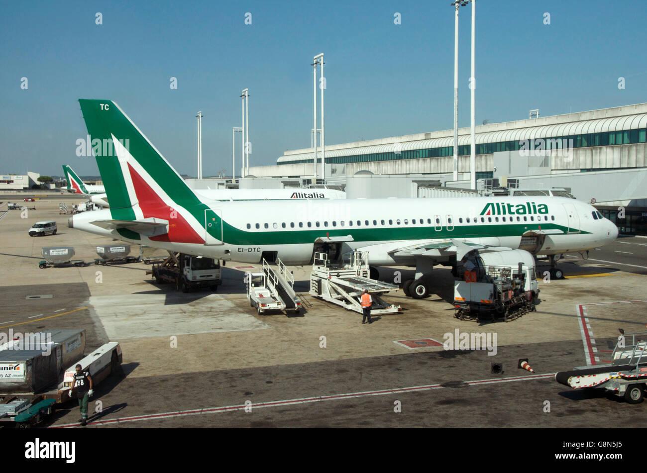 Fiumicino Airport, Rome, Lazio, Italy, Europe - Stock Image