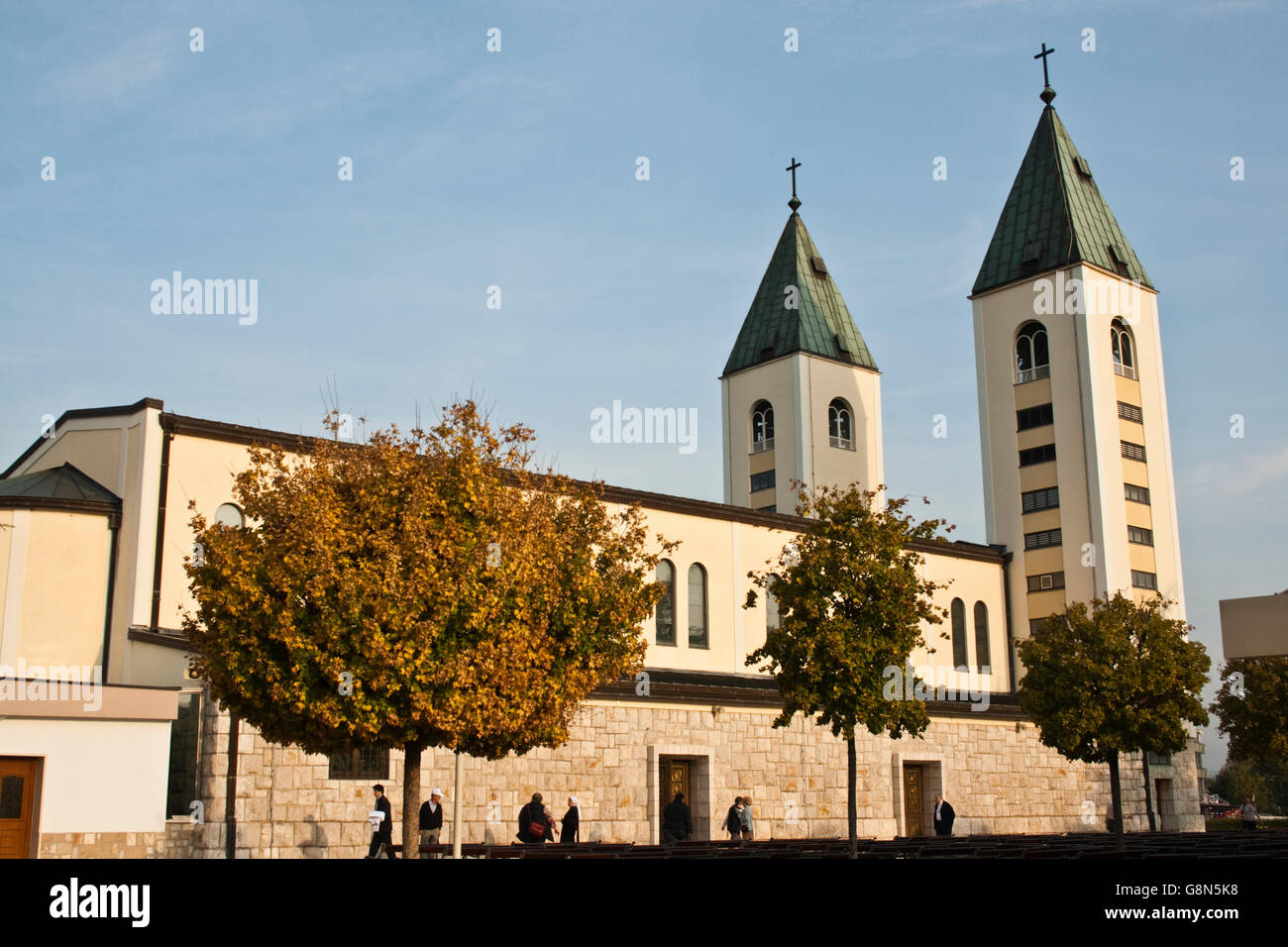Church, sanctuary in Medjugorje, Bosnia and Herzegovina, Europe Stock Photo