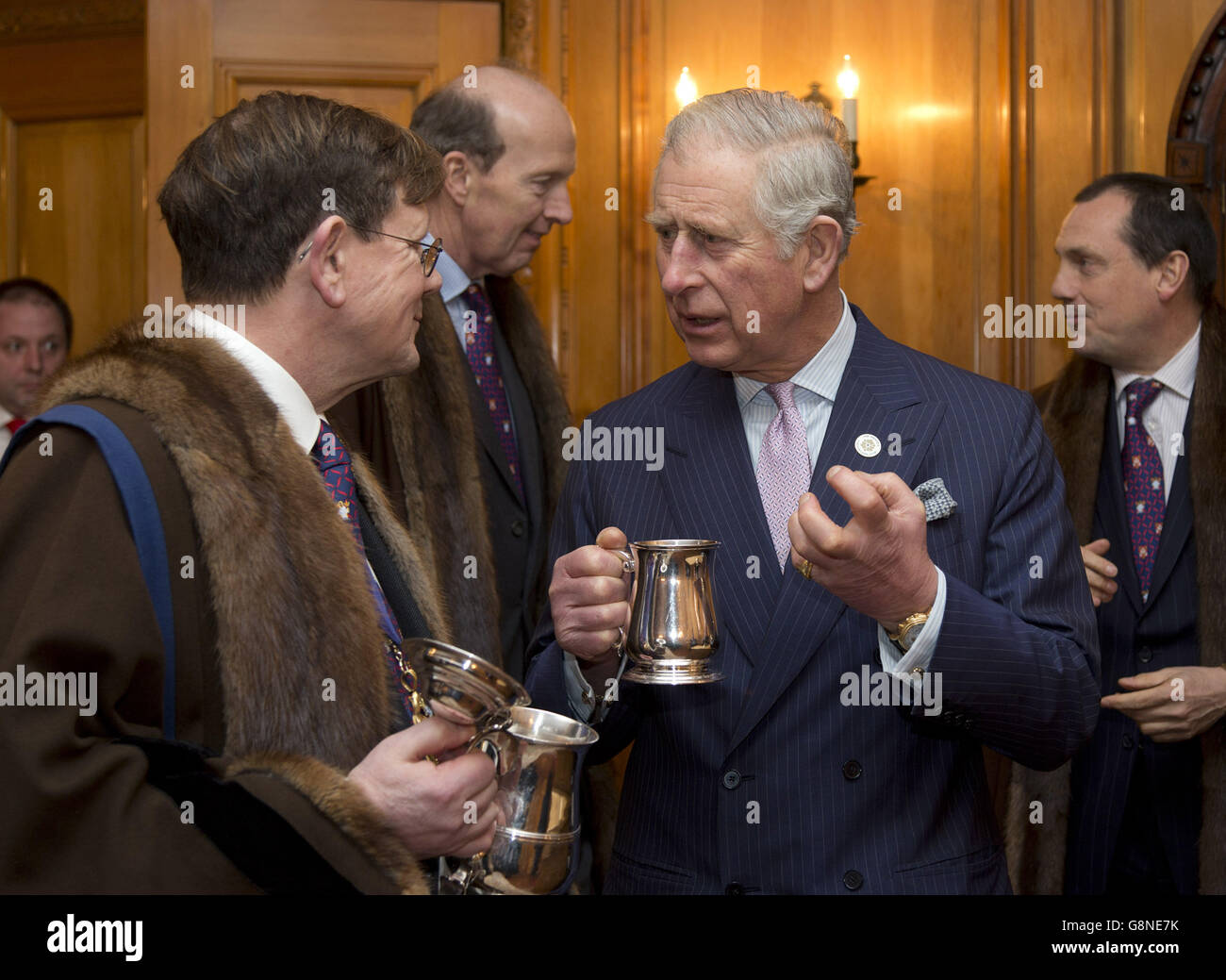 Prince Charles Worshipful Company of Brewers - Stock Image