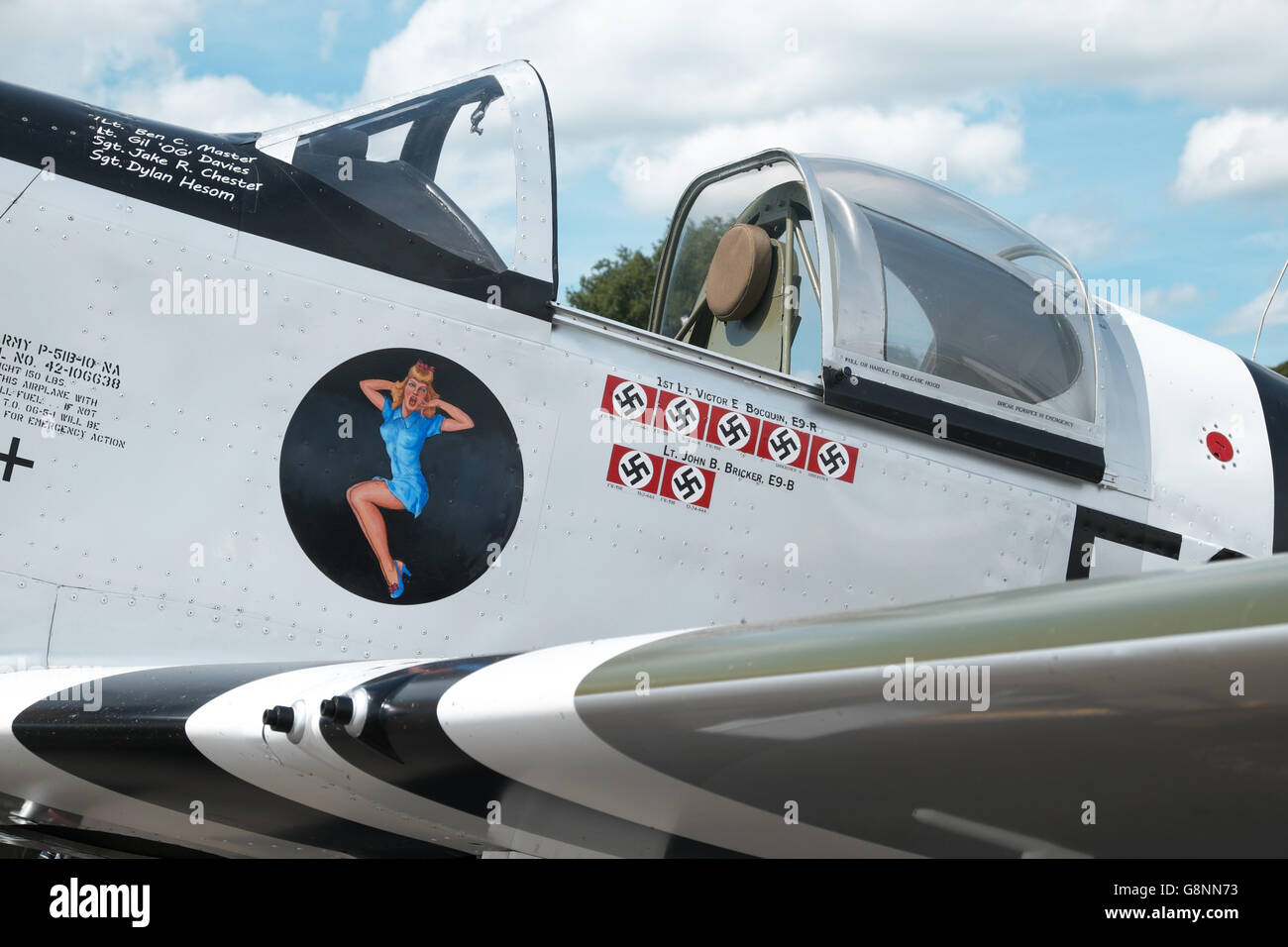 Titan T-51 Mustang a three quarter size scale replica of a World War 2 P-51 Mustang - Stock Image