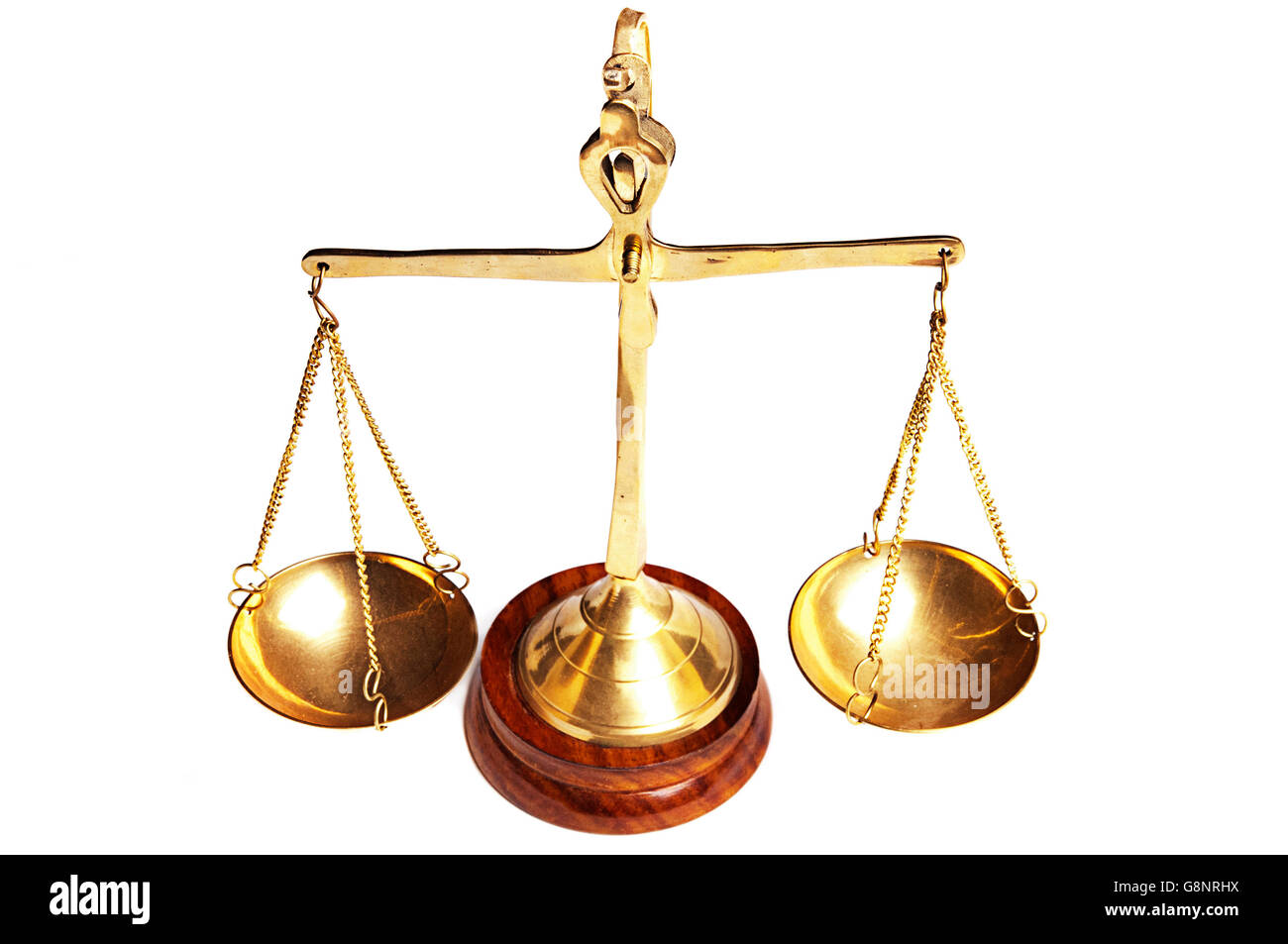 justice scales isolated - Stock Image