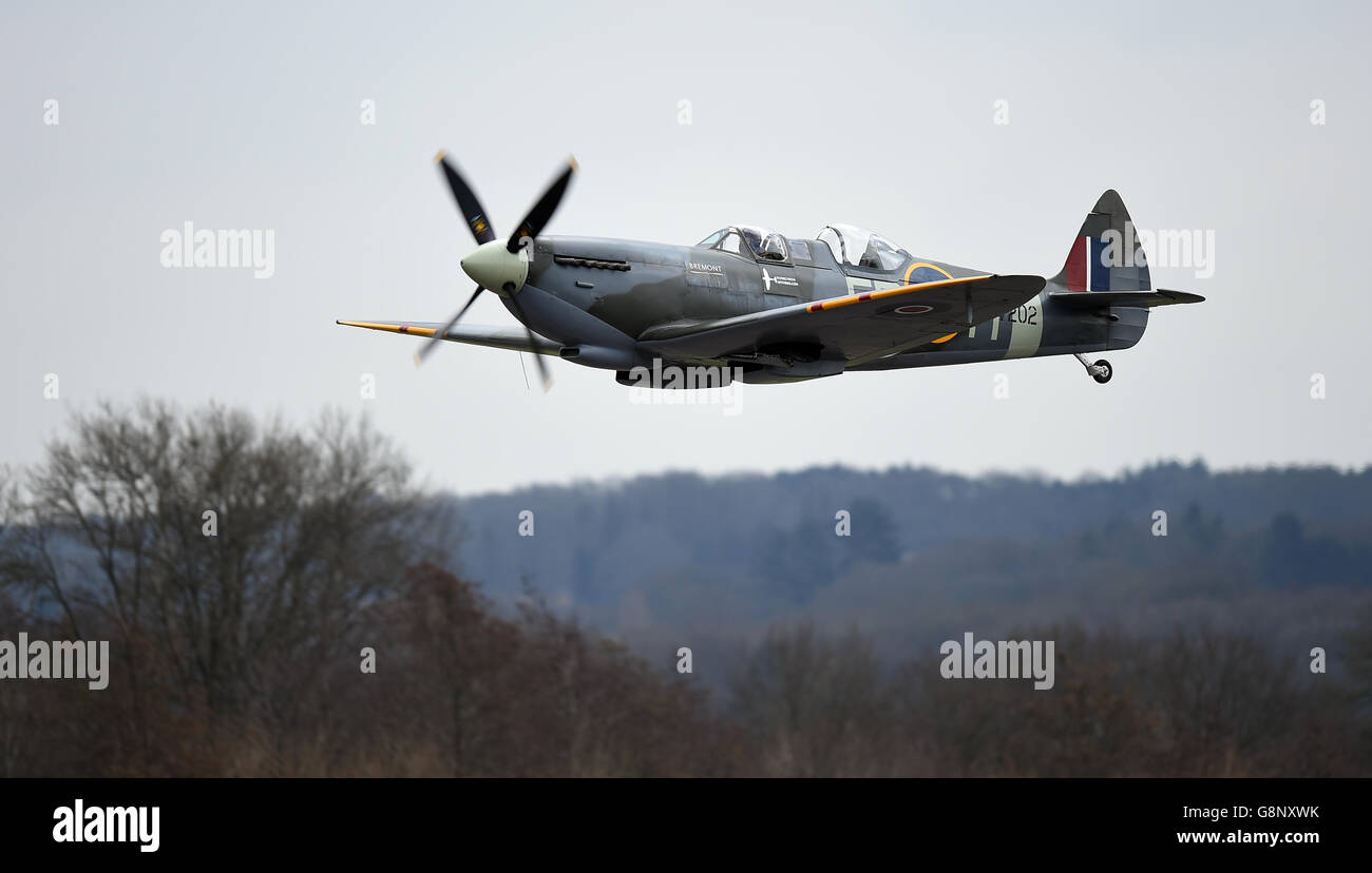 Spitfire 80th anniversary event at Southampton Airport Stock Photo