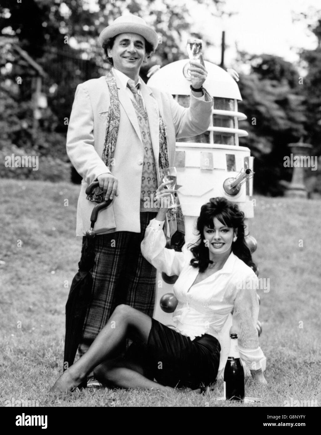 Sylvester McCoy and Vicki Michelle - London - Stock Image
