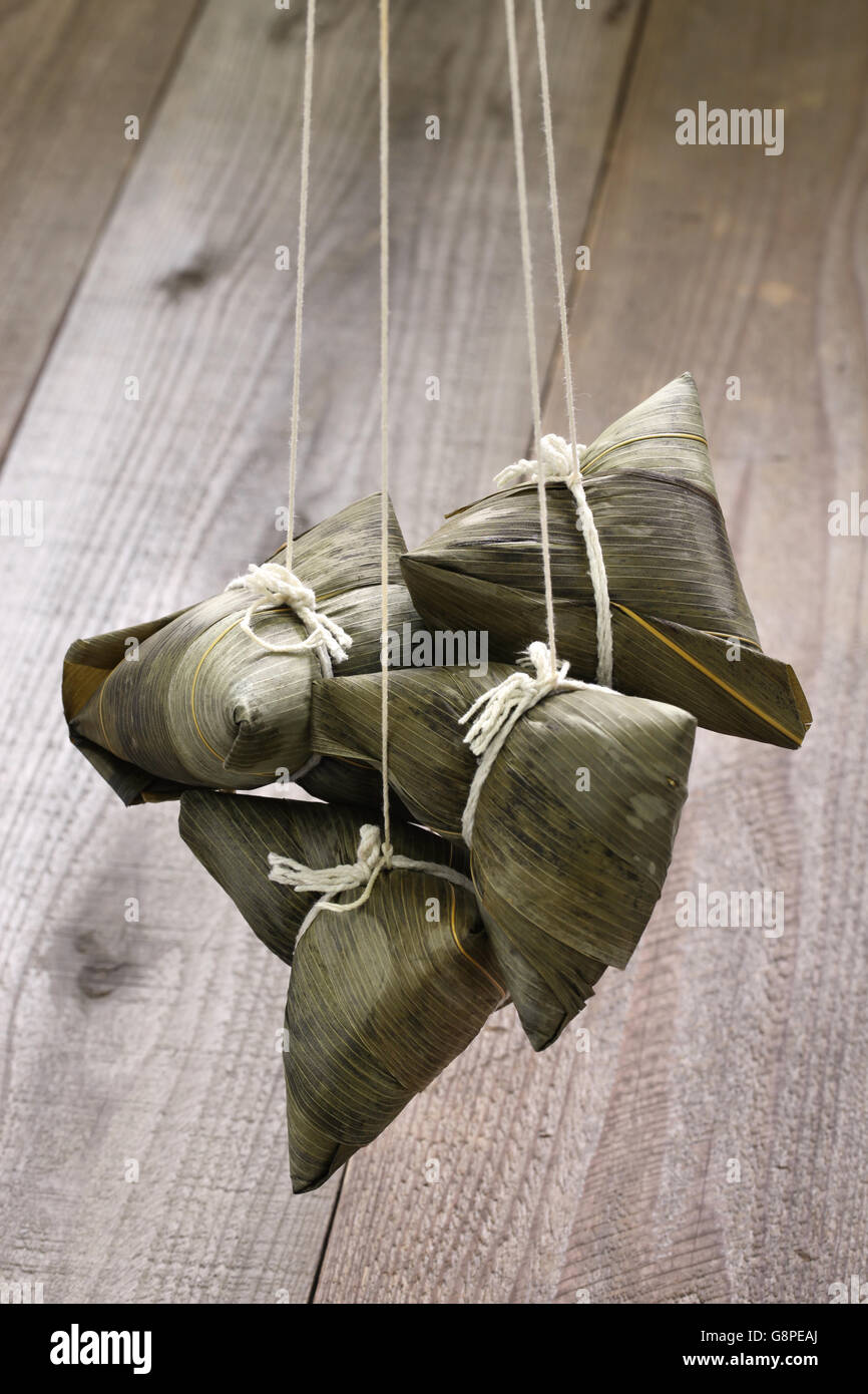 zongzi, chinese rice dumpling - Stock Image