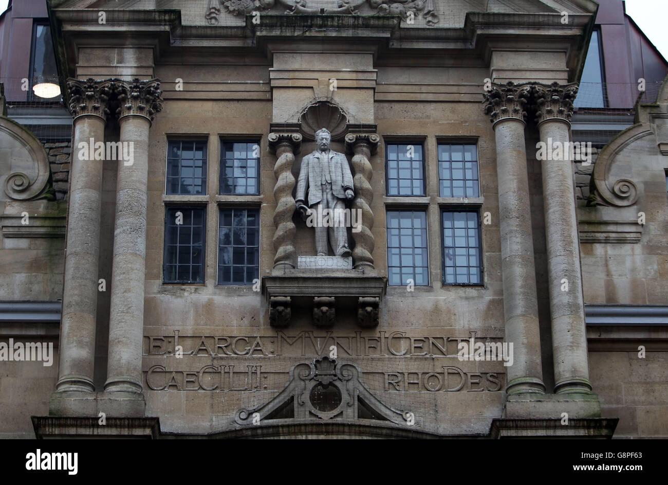 Cecil Rhodes statue - Stock Image
