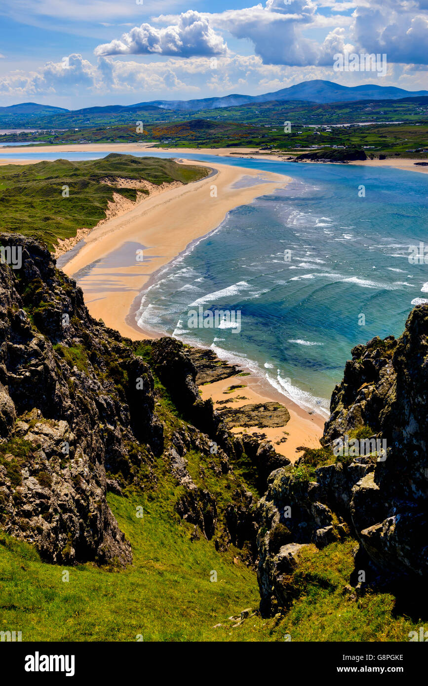 Five Fingers Strand, Malin, Donegal - Stock Image