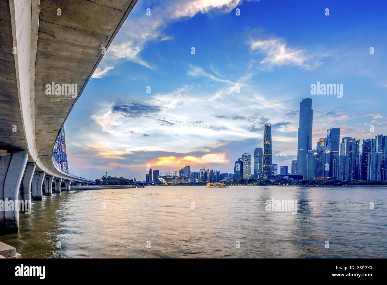 Guangzhou Pearl River New City - Stock Image