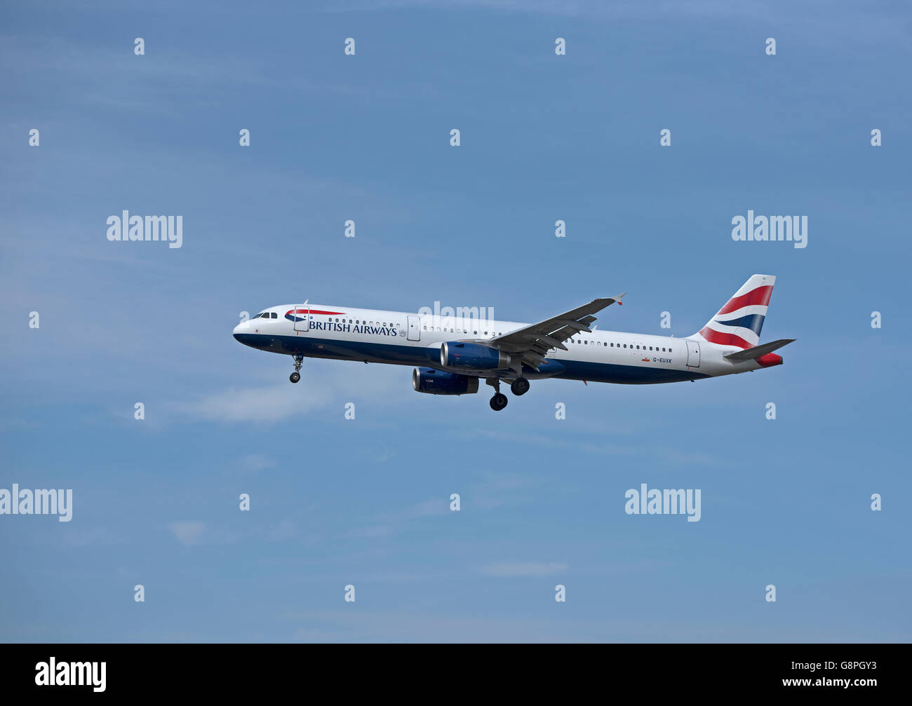 British Airways Airbus 321-231 Registration G-EUXK  SCO10,473.Stock Photo