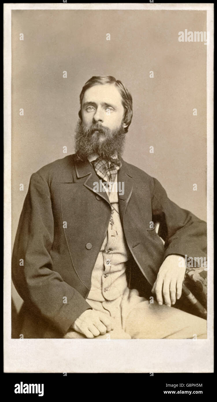 Fitz Hugh Ludlow (1836-1870) American writer and explorer who wrote 'The Hasheesh Eater' an autobiographical book - Stock Image