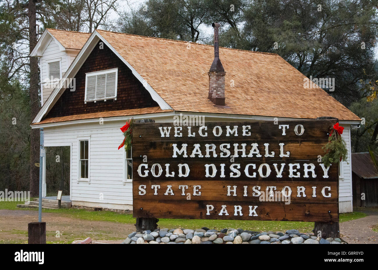 Coloma California famous Marshall Gold Discovery State Park where gold was first discovered in 1885 - Stock Image