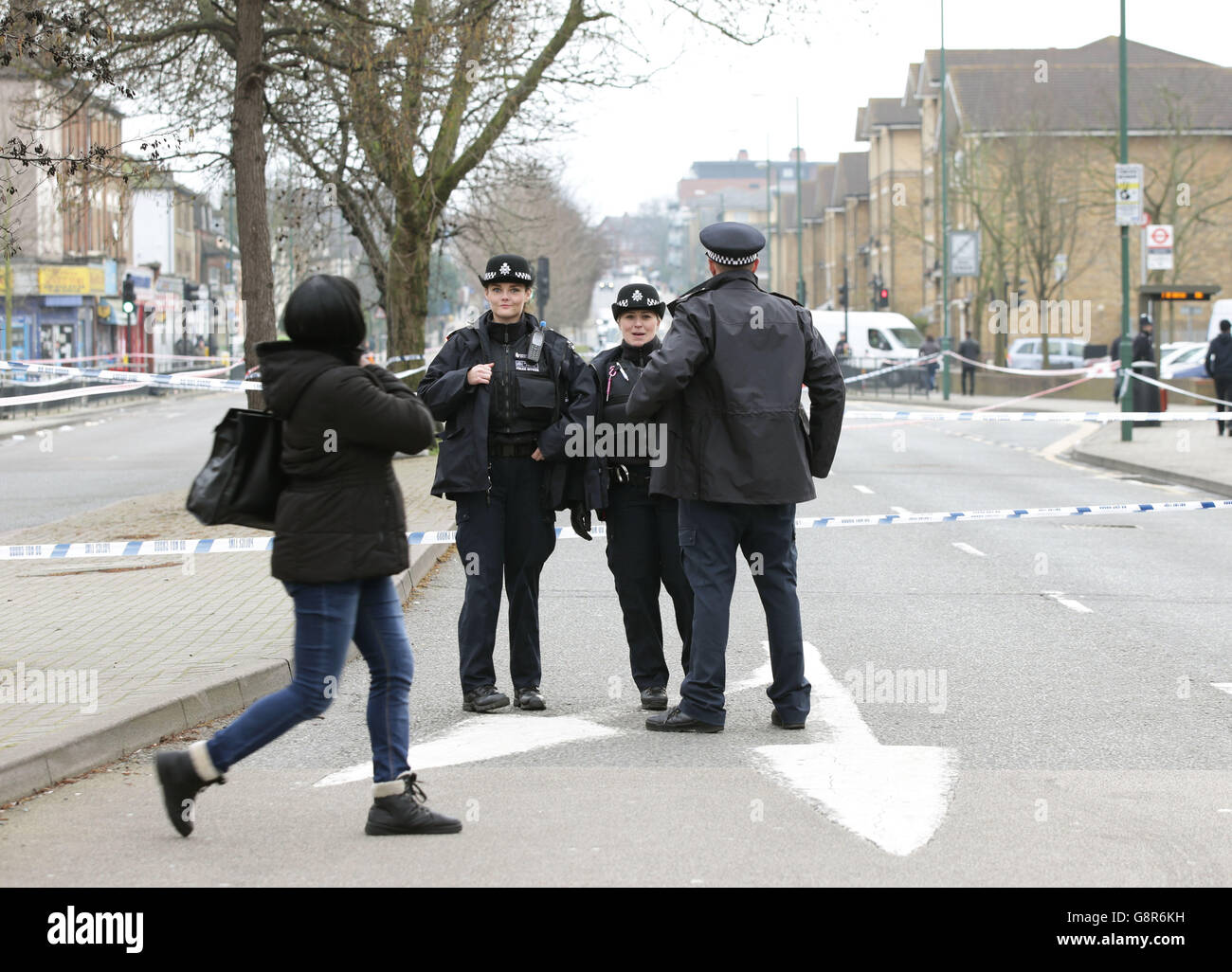 Harlesden shooting death - Stock Image