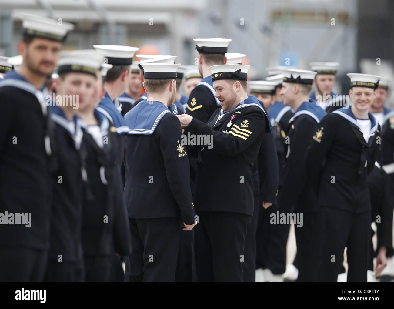Attack submarine HMS Artful - Stock Image