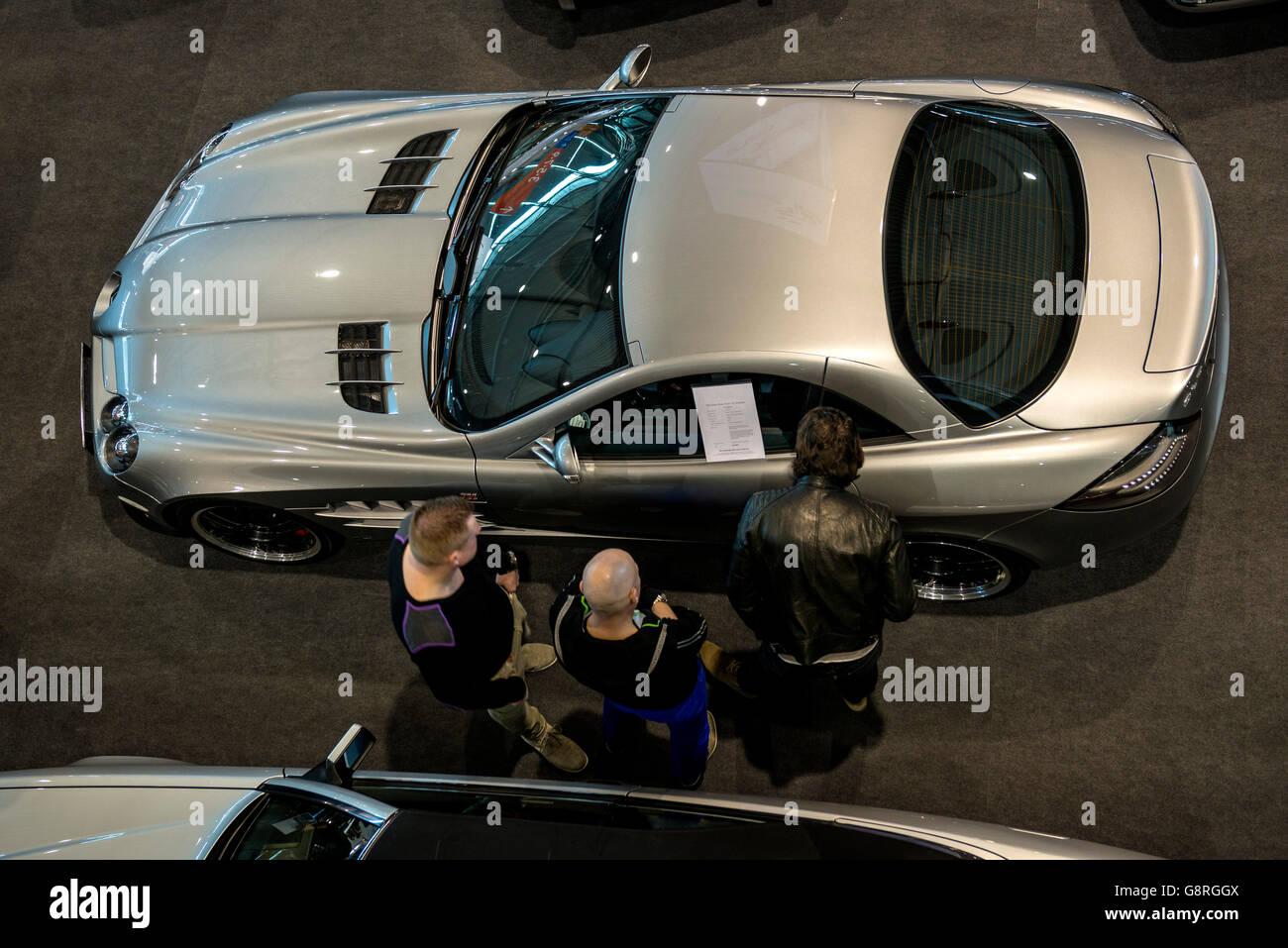 Car Dealer -  Mercedes Sportscar - Stock Image