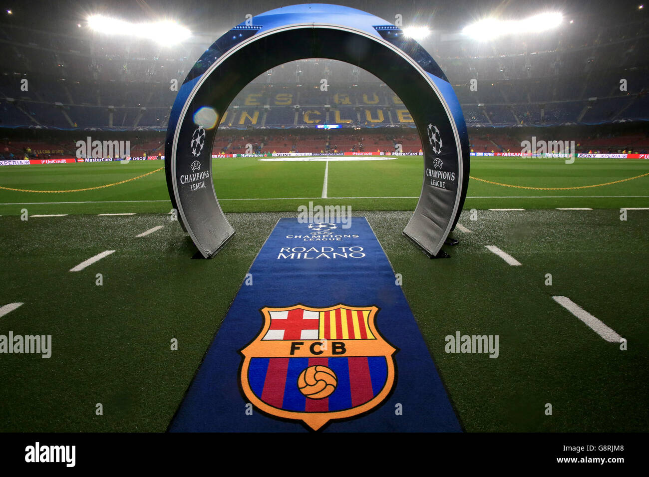 Barcelona v Arsenal - UEFA Champions League - Round of Sixteen - Second Leg - Camp Nou - Stock Image