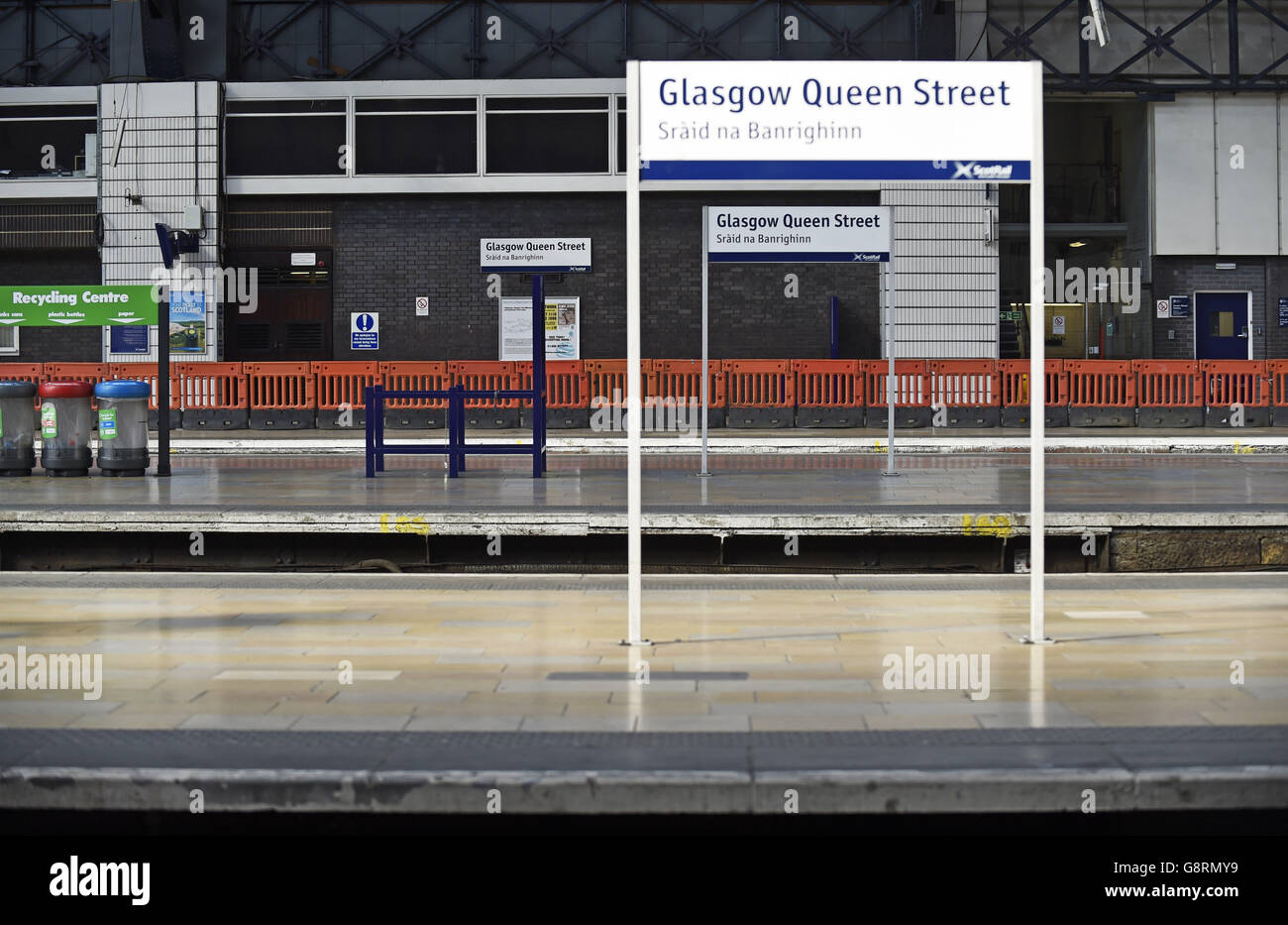 Queen Street Station renovation - Stock Image