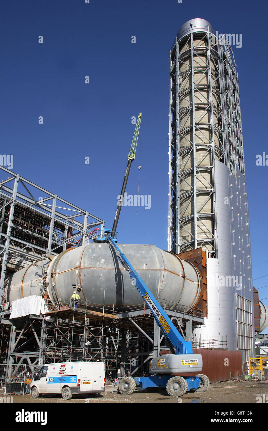 A New Gas Fired Power Station Under Construction At