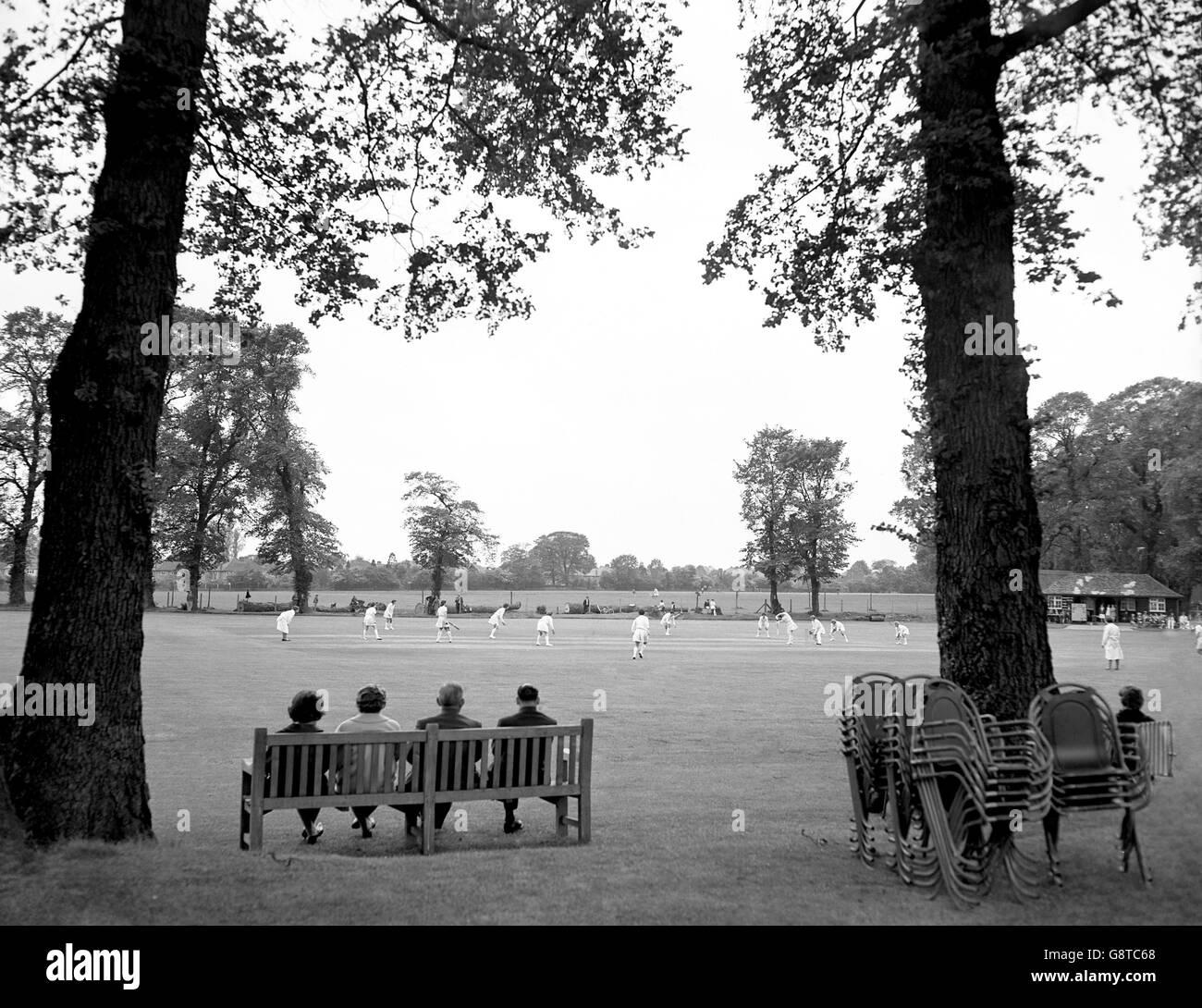 New Zealand v Middlesex - Women's Cricket - London - Stock Image