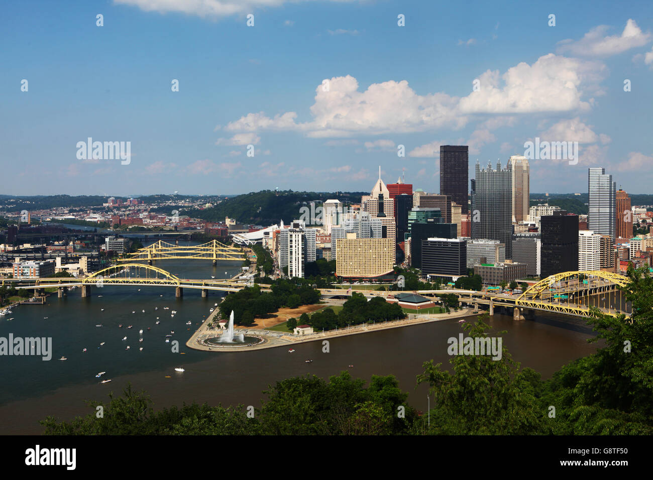 newest 2d359 54424 An Aerial view of the Pittsburgh skyline - Stock Image