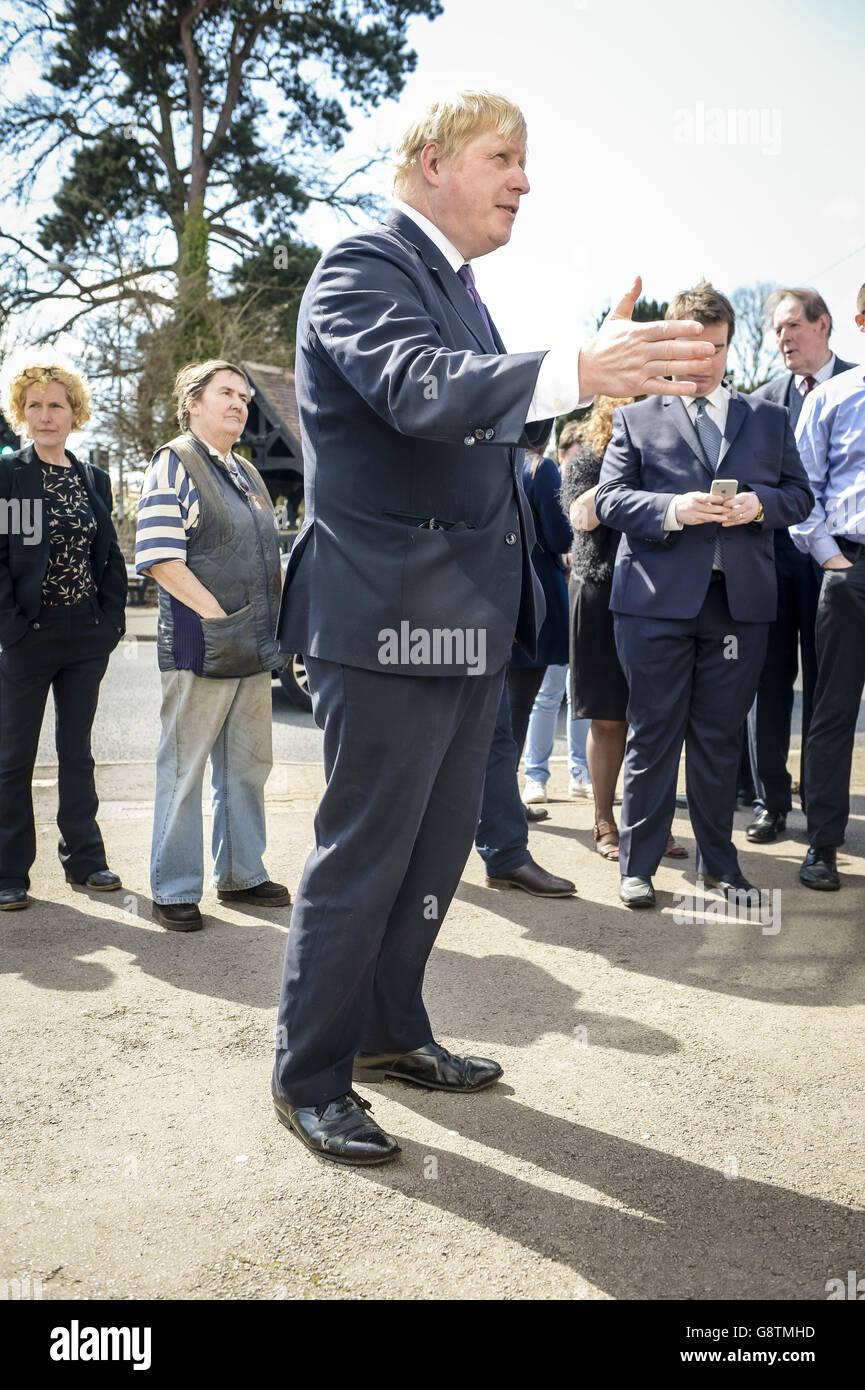 Boris Johnson Wales visit - Stock Image